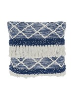 Saro SARO Moroccan Pillow Down Filled - Navy Blue