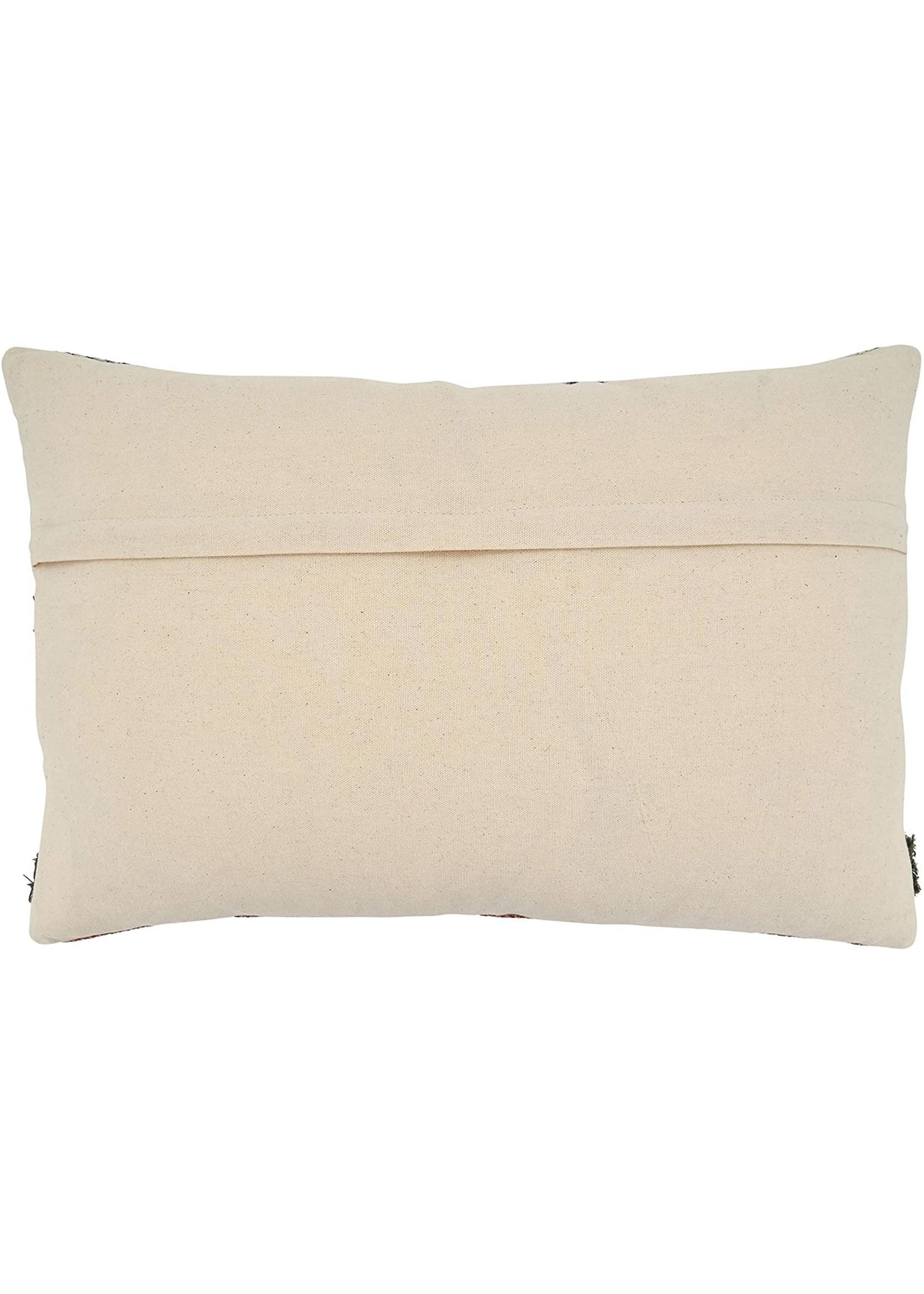 Saro Printed & Emb Pillow - Multi