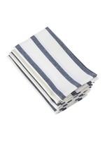 Saro SARO Striped Napkin - Navy Blue