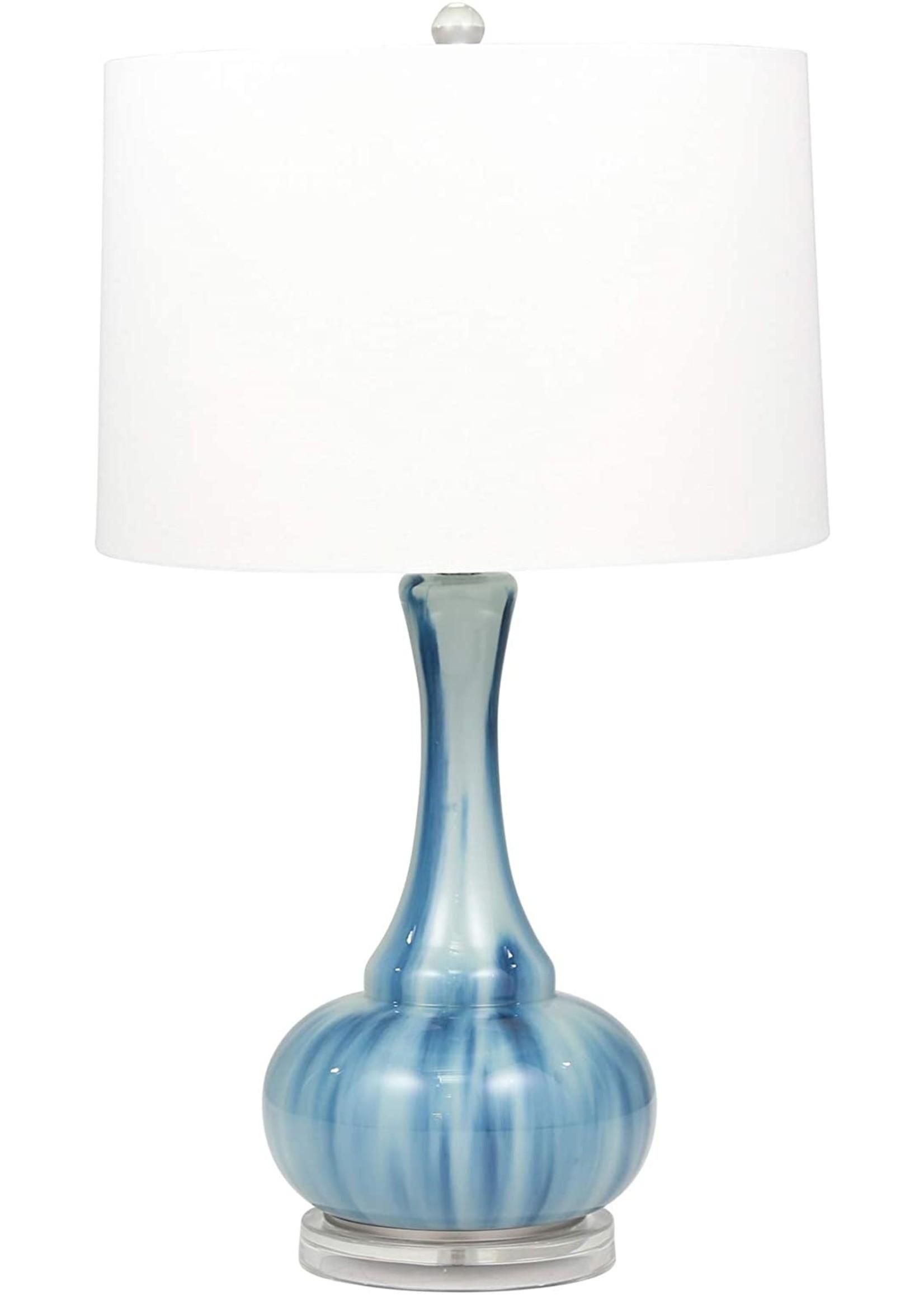 Sagebrook Home Glass Genie Bottle Table Lamp Blue