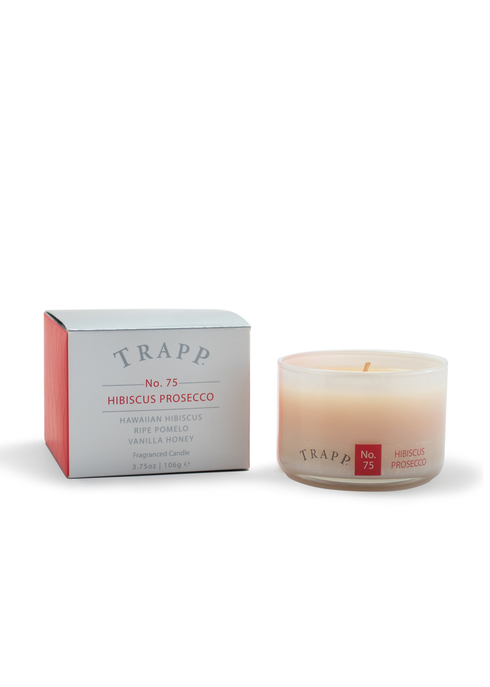 Trapp Candles Ambiance Collection - No. 75 Hibiscus Prosecco - 3.75 oz. Poured Candle