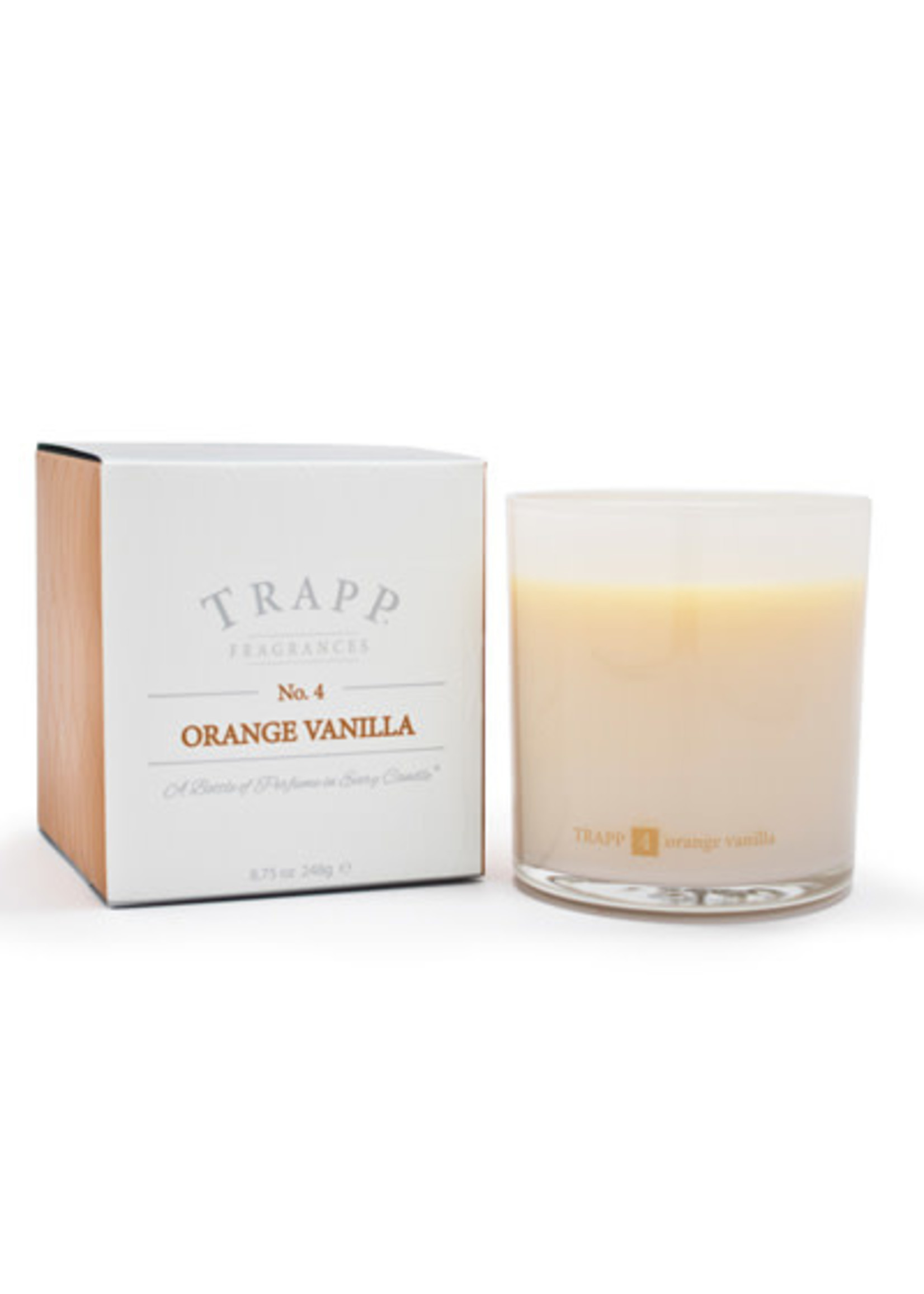Trapp Candles Ambiance Collection - No. 4 Orange Vanilla - 8.75 oz. Poured Candle
