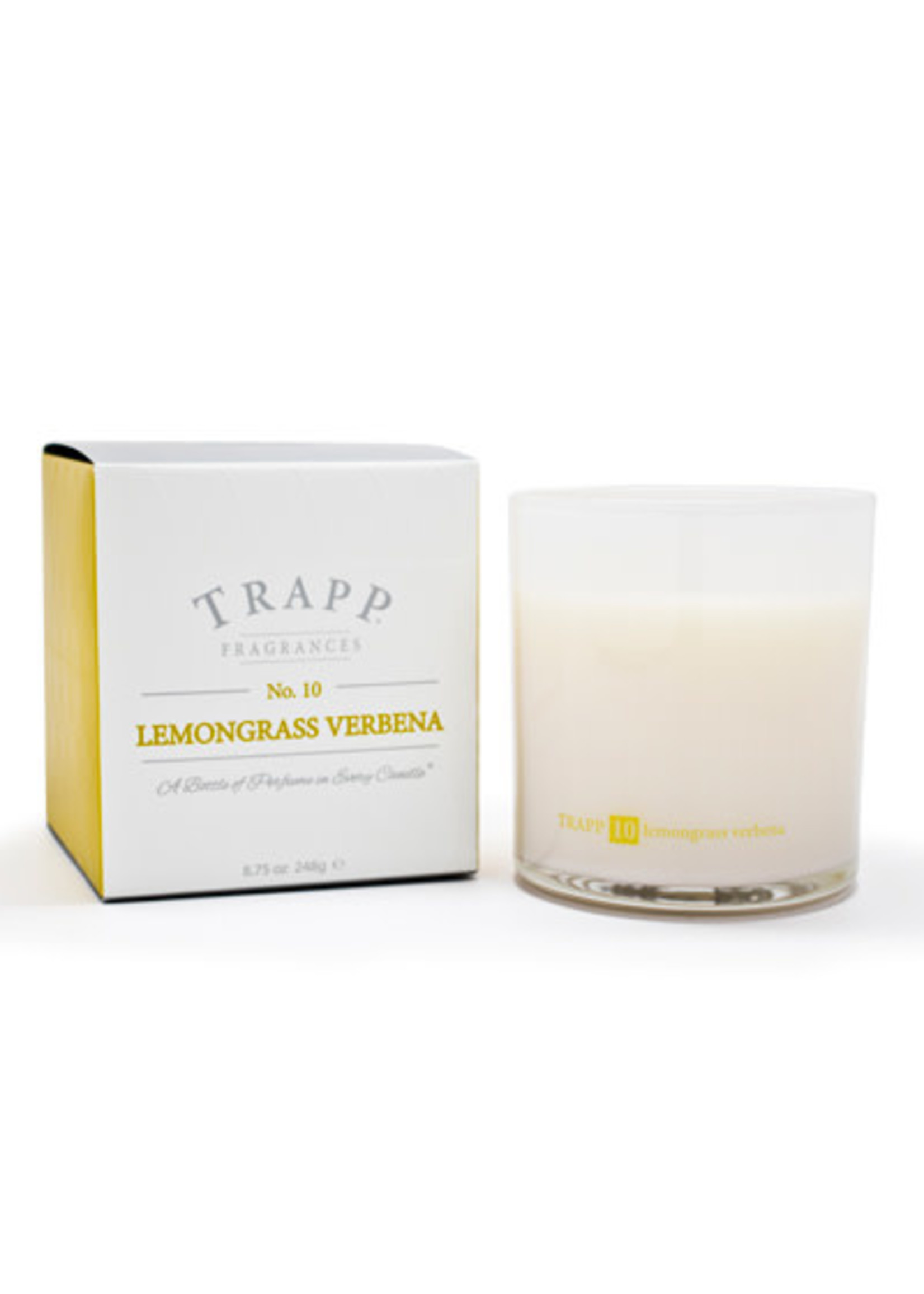 Trapp Candles Ambiance Collection - No. 10 Lemongrass Verbena - 8.75 oz. Poured Candle