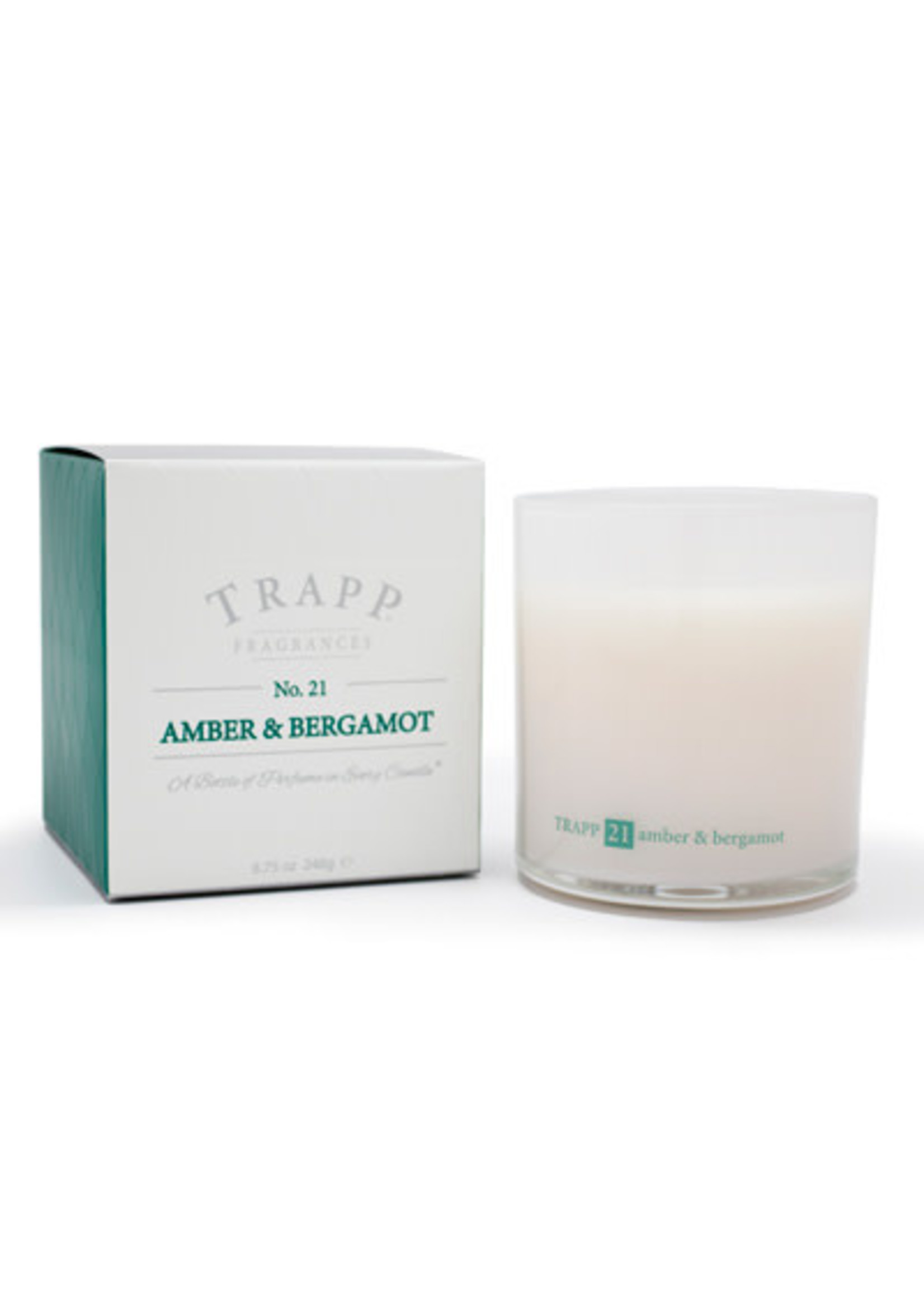 Trapp Candles Ambiance Collection - No. 21 Amber Bergamot - 8.75 oz. Poured Candle
