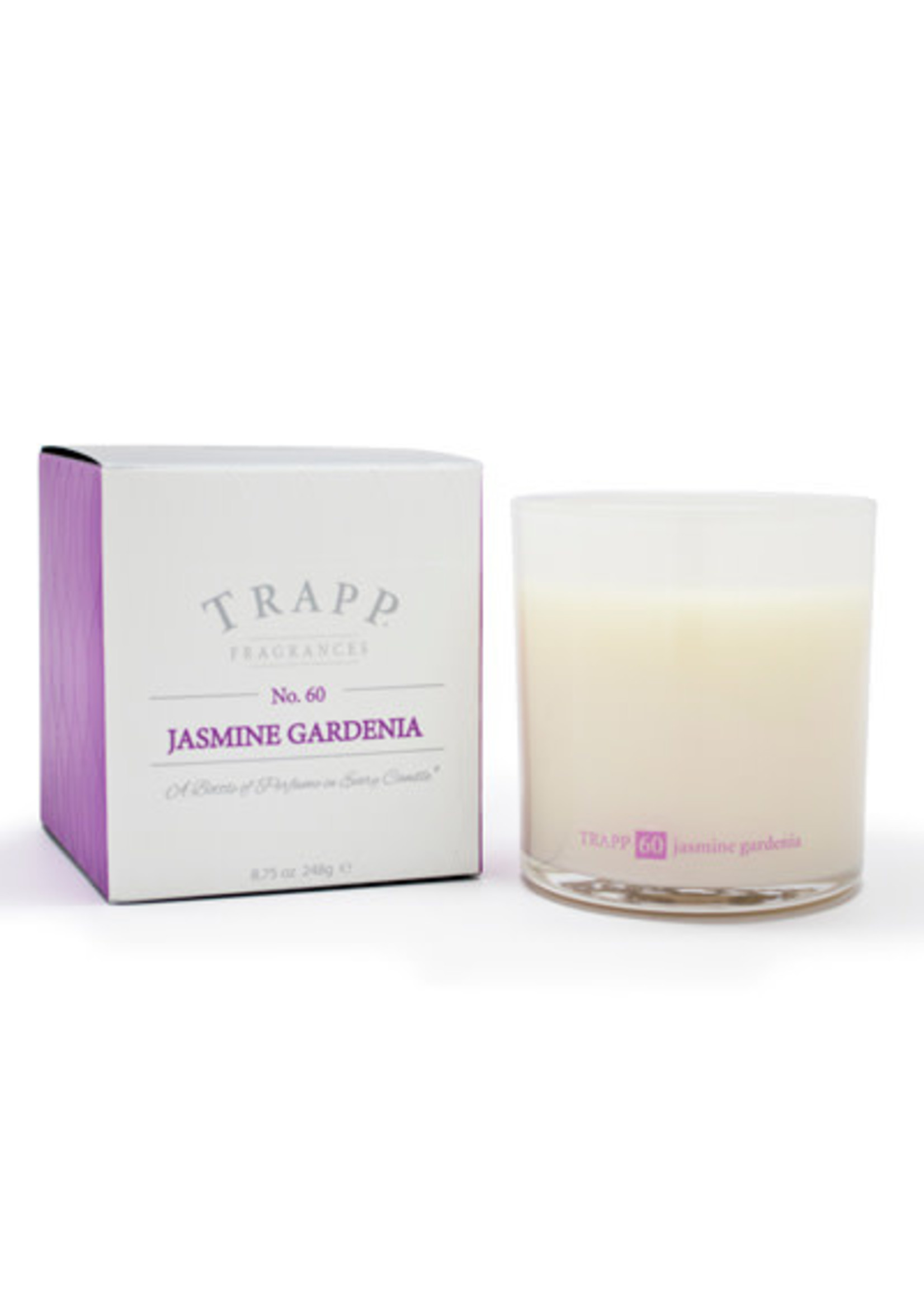 Trapp Candles Ambiance Collection - No. 60 Jasmine Gardenia - 8.75 oz. Poured Candle