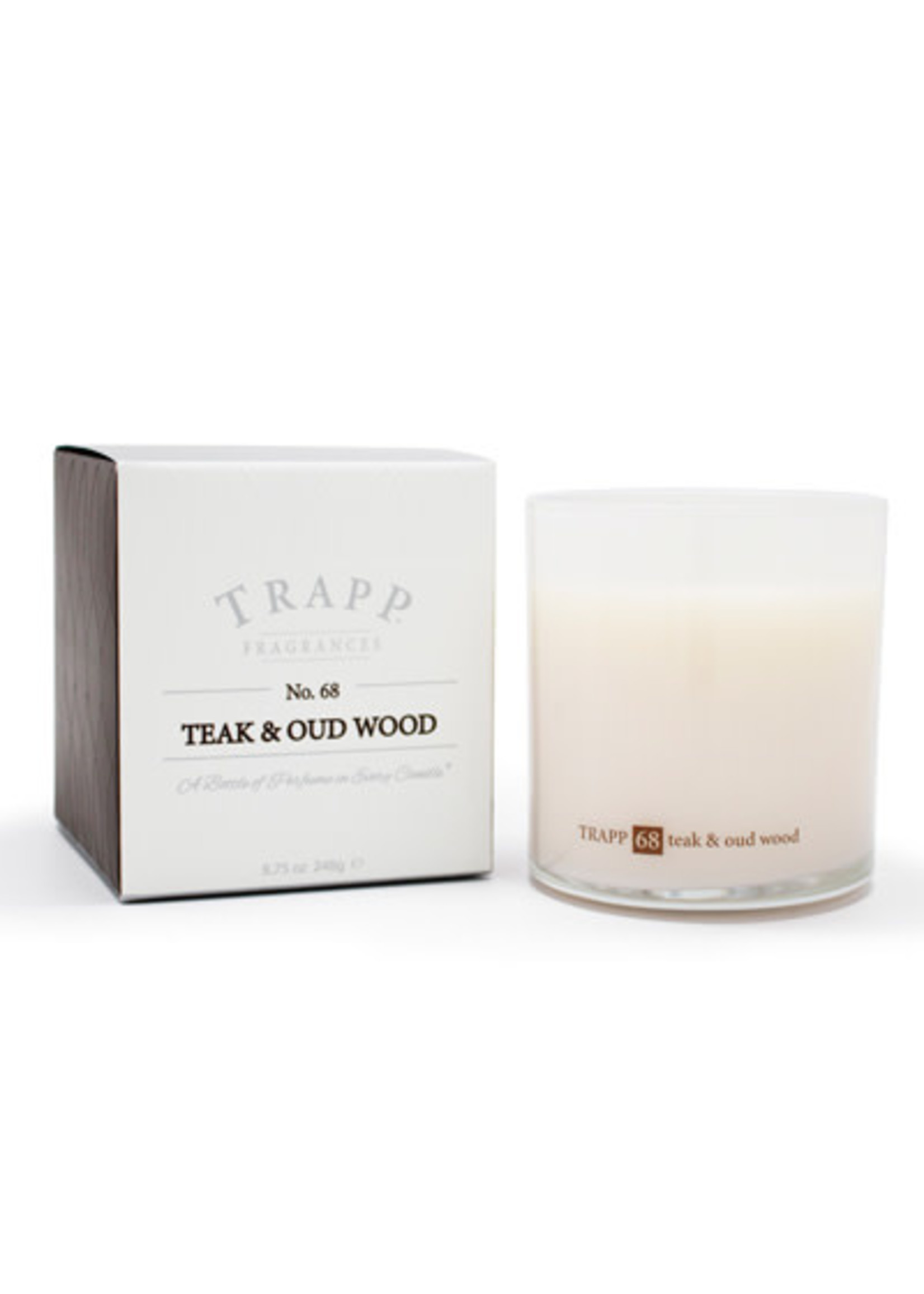 Trapp Candles Ambiance Collection - No. 68 Teak and Oud Wood - 8.75 oz. Poured Candle