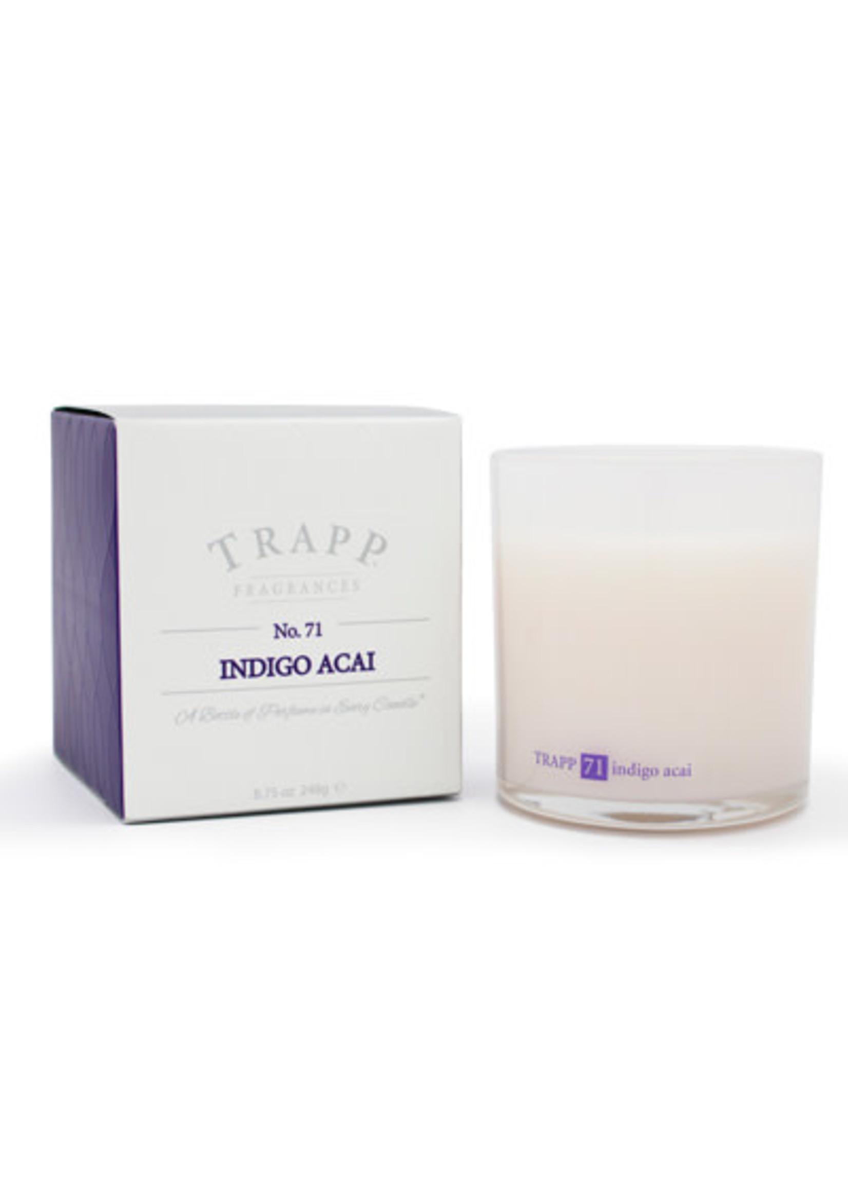 Trapp Candles Ambiance Collection - No. 71 Indigo Acai - 8.75 oz. Poured Candle
