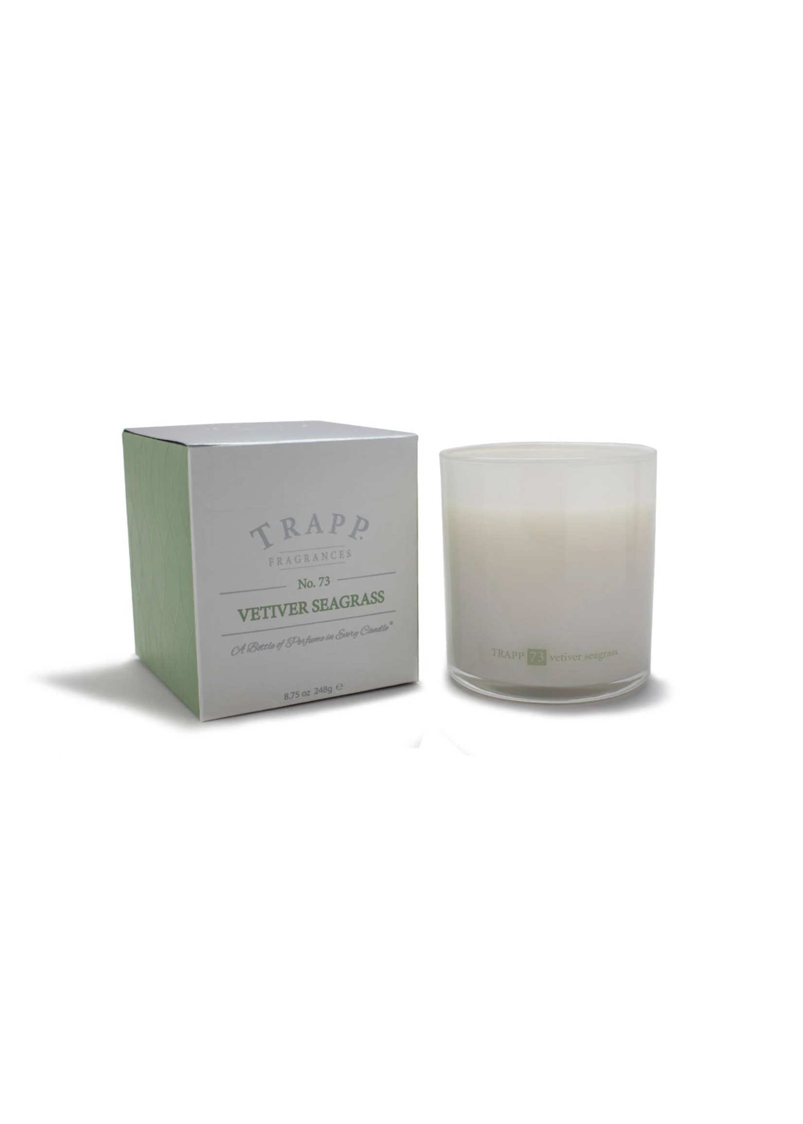 Trapp Candles Ambiance Collection - No. 73 Vetiver Seagrass - 8.75 oz. Poured Candle