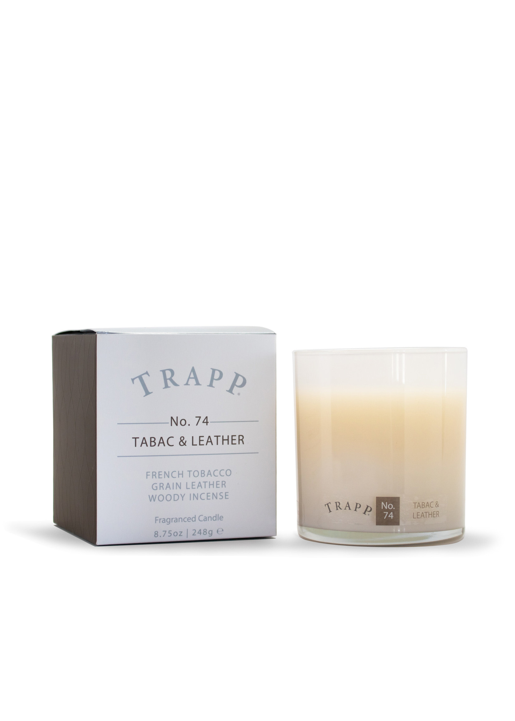 Trapp Candles Ambiance Collection - No. 74 Tabac & Leather - 8.75oz. Poured Candle