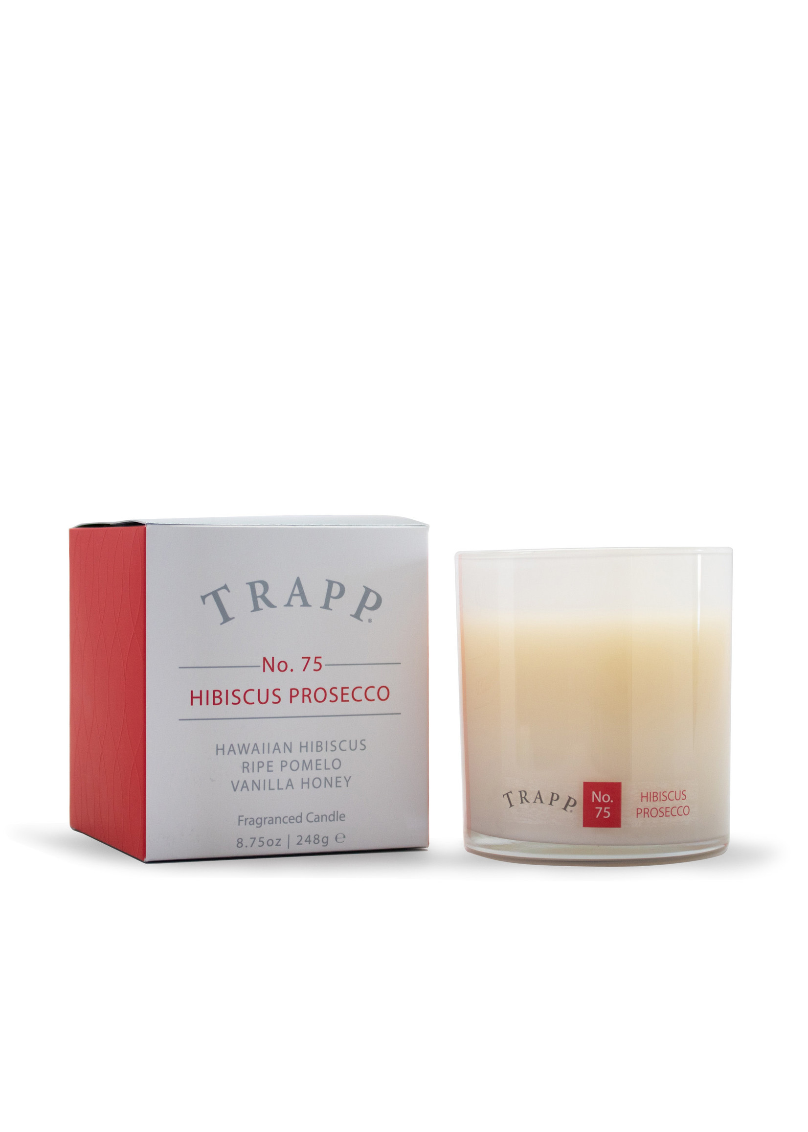 Trapp Candles Ambiance Collection - No. 75 Hibiscus Prosecco - 8.75oz. Poured Candle