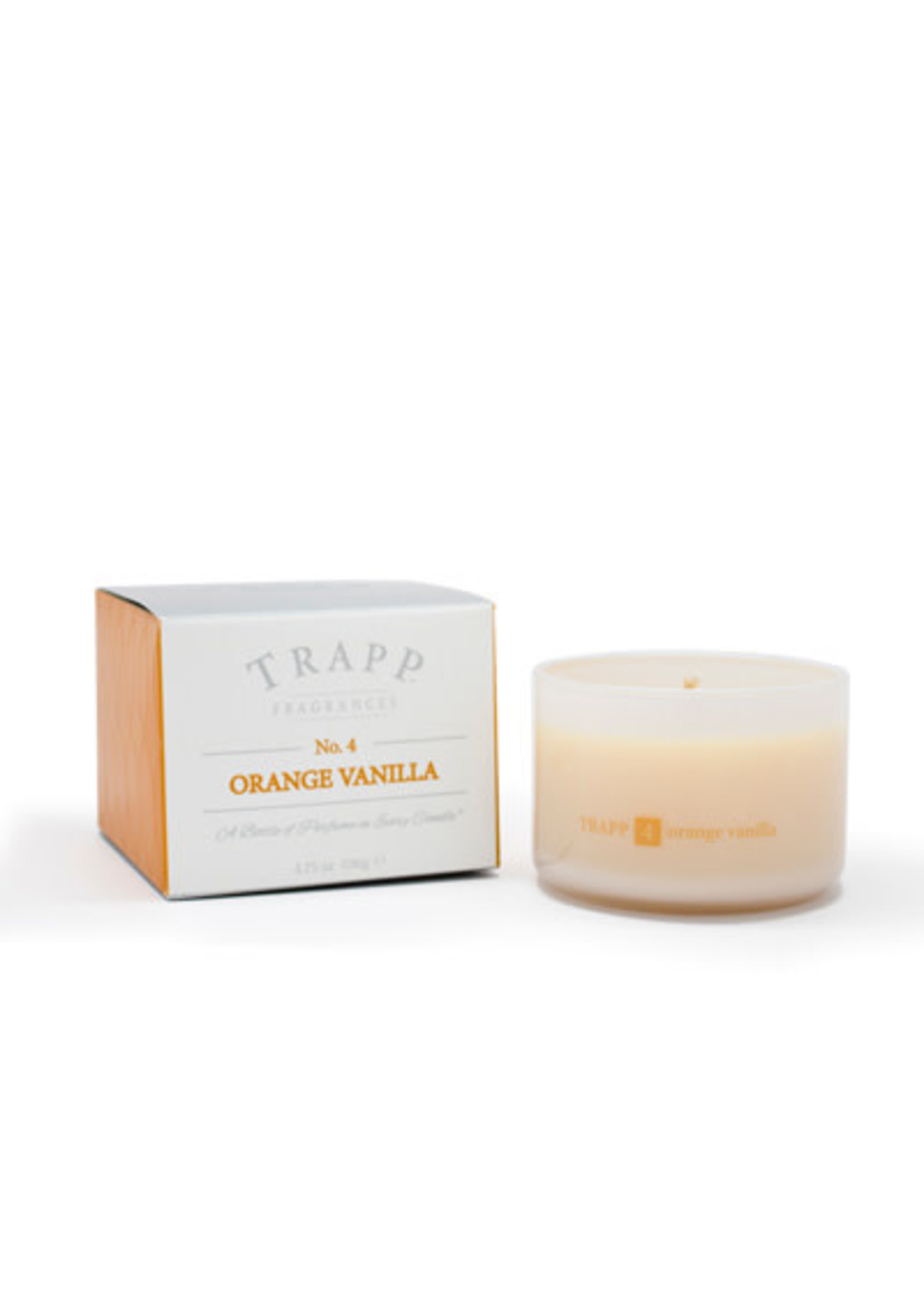 Trapp Candles Ambiance Collection - No. 4 Orange Vanilla - 3.75 oz. Poured Candle