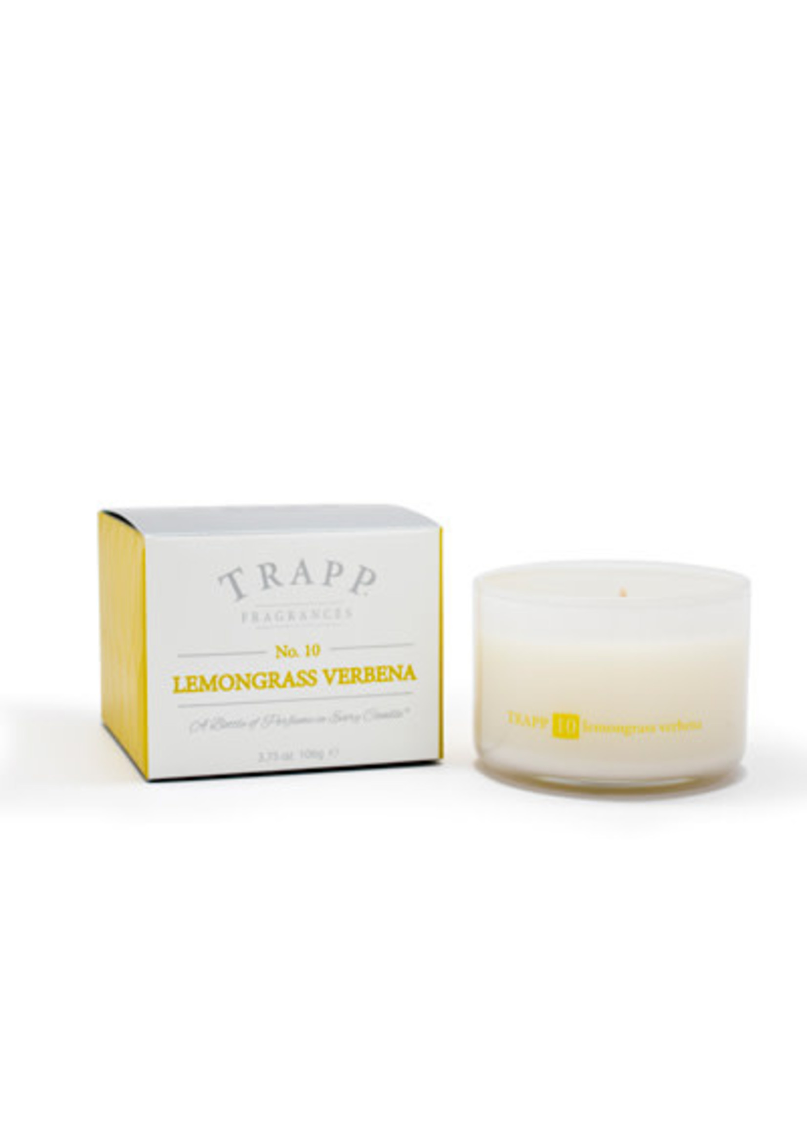 Trapp Candles Ambiance Collection - No. 10 Lemongrass Verbena - 3.75 oz. Poured Candle