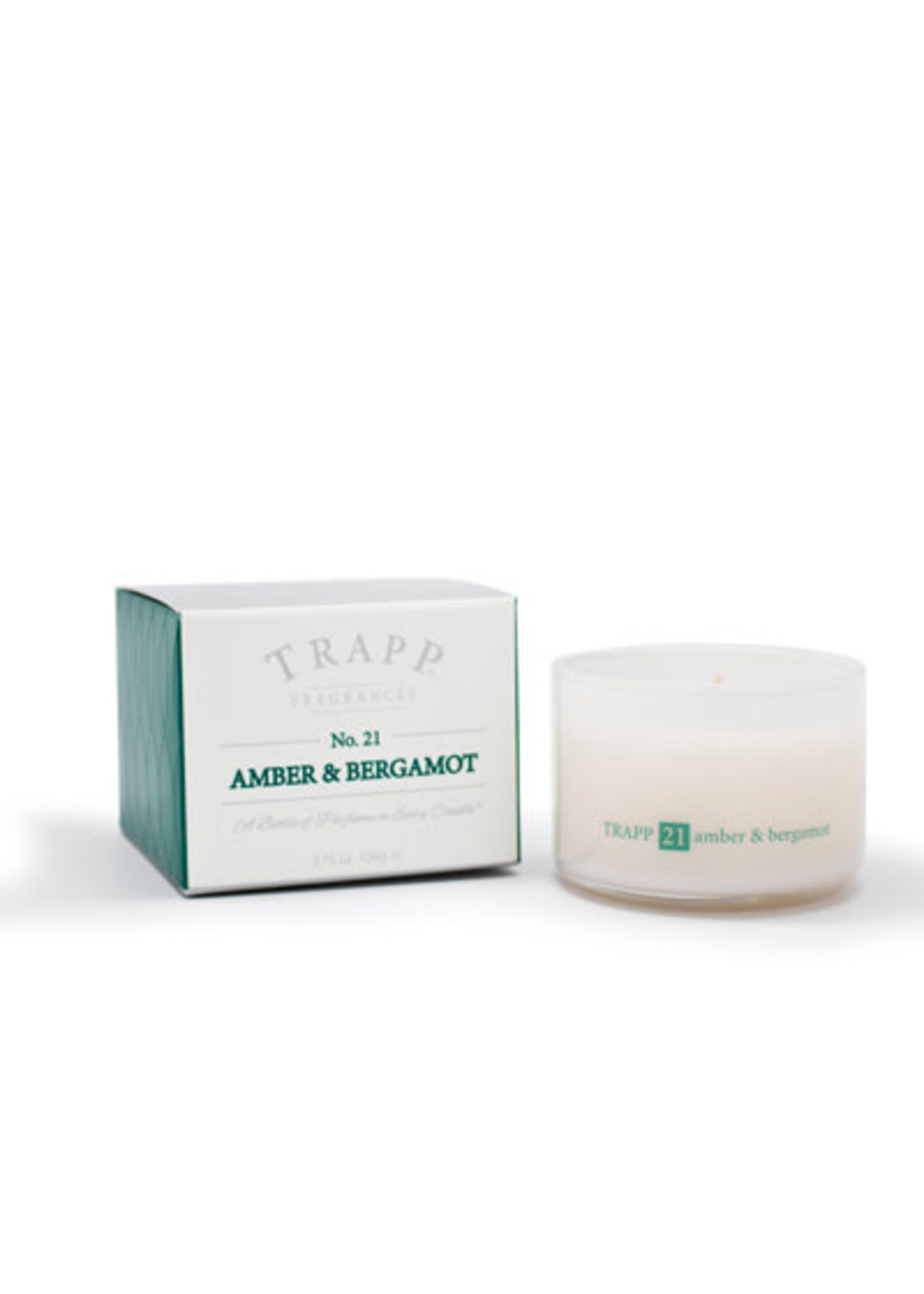 Trapp Candles Ambiance Collection - No. 21 Amber Bergamot - 3.75 oz. Poured Candle