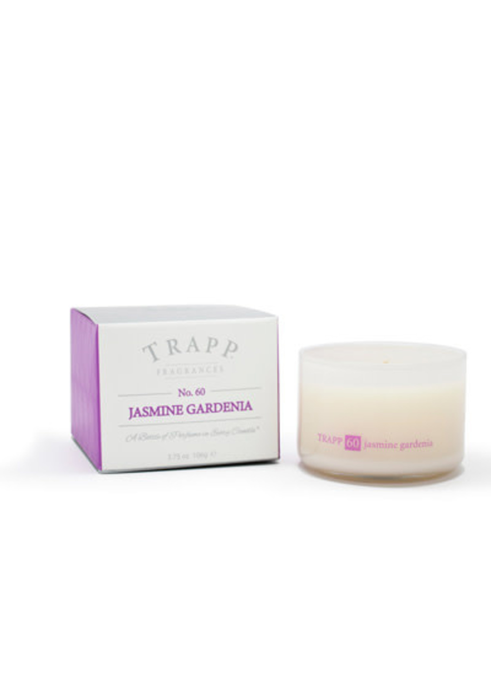 Trapp Candles Ambiance Collection - No. 60 Jasmine Gardenia - 3.75 oz. Poured Candle