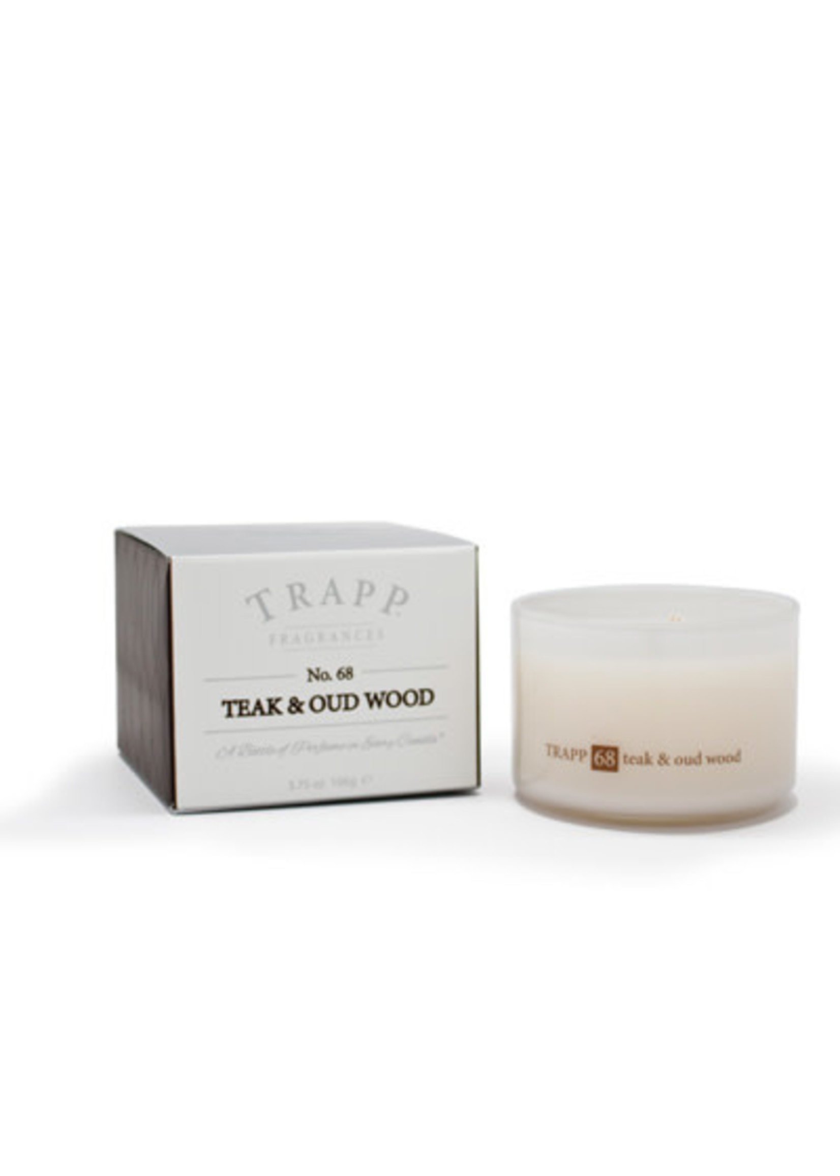 Trapp Candles Ambiance Collection - No. 68 Teak and Oud Wood - 3.75 oz. Poured Candle