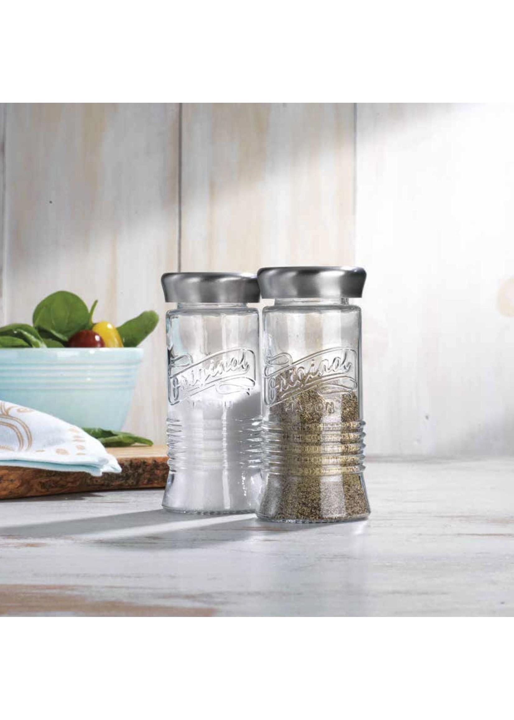 Home Essentials Original Mason Salt & Pepper Shaker Set