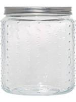 Home Essentials 101 oz Hobnail Glass Canister