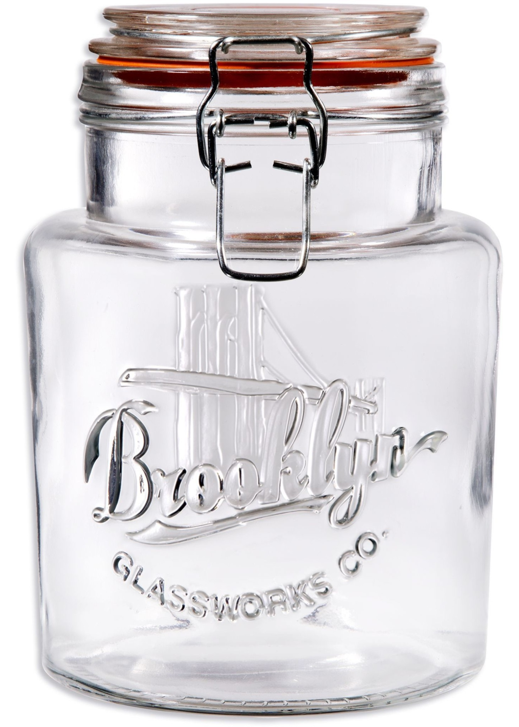 Home Essentials Brooklyn Glassworks Co. - Bail & Trigger 24 oz Canister