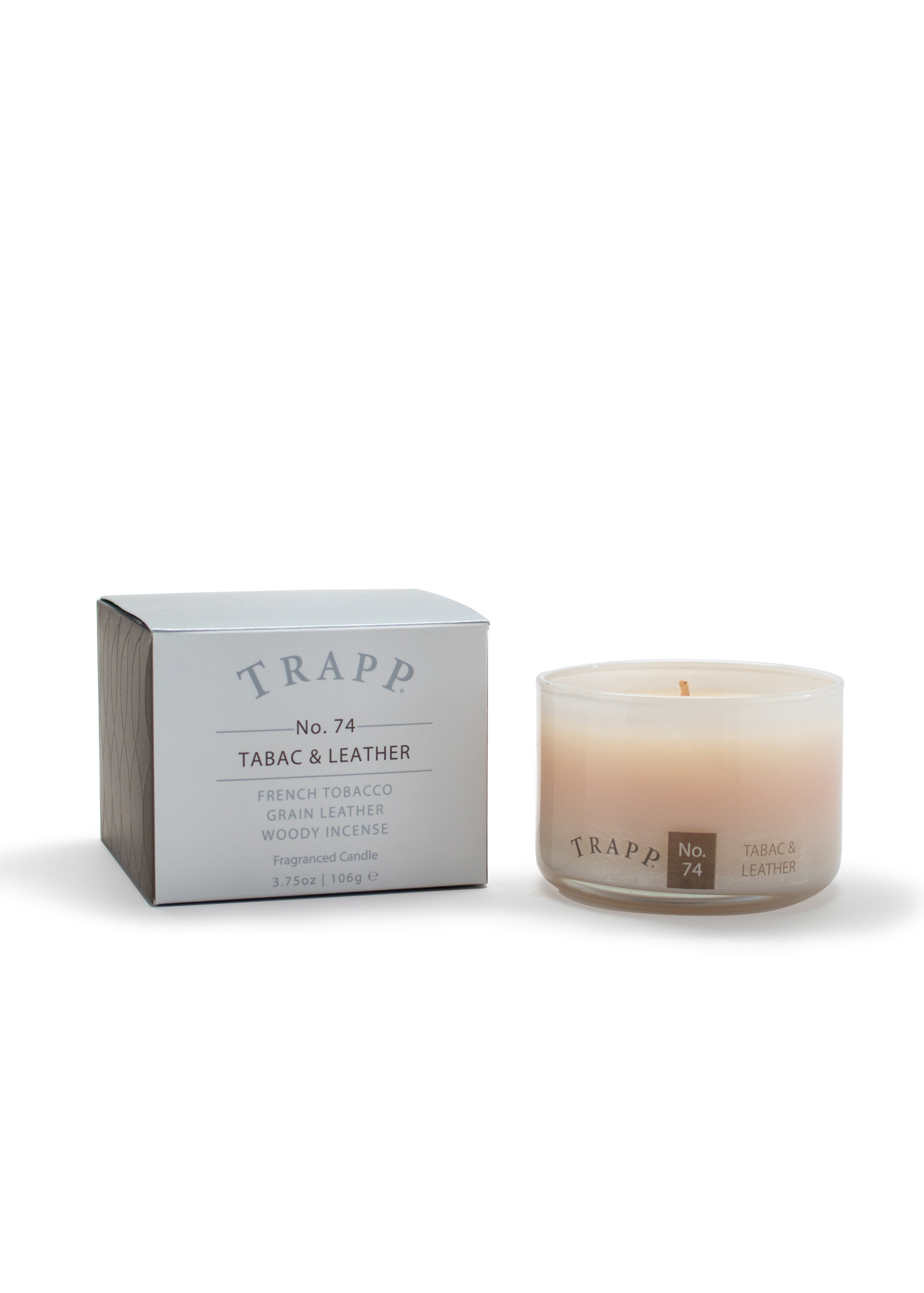 Trapp Candles Ambiance Collection - No. 74 Tabac & Leather - 3.75 oz. Poured Candle