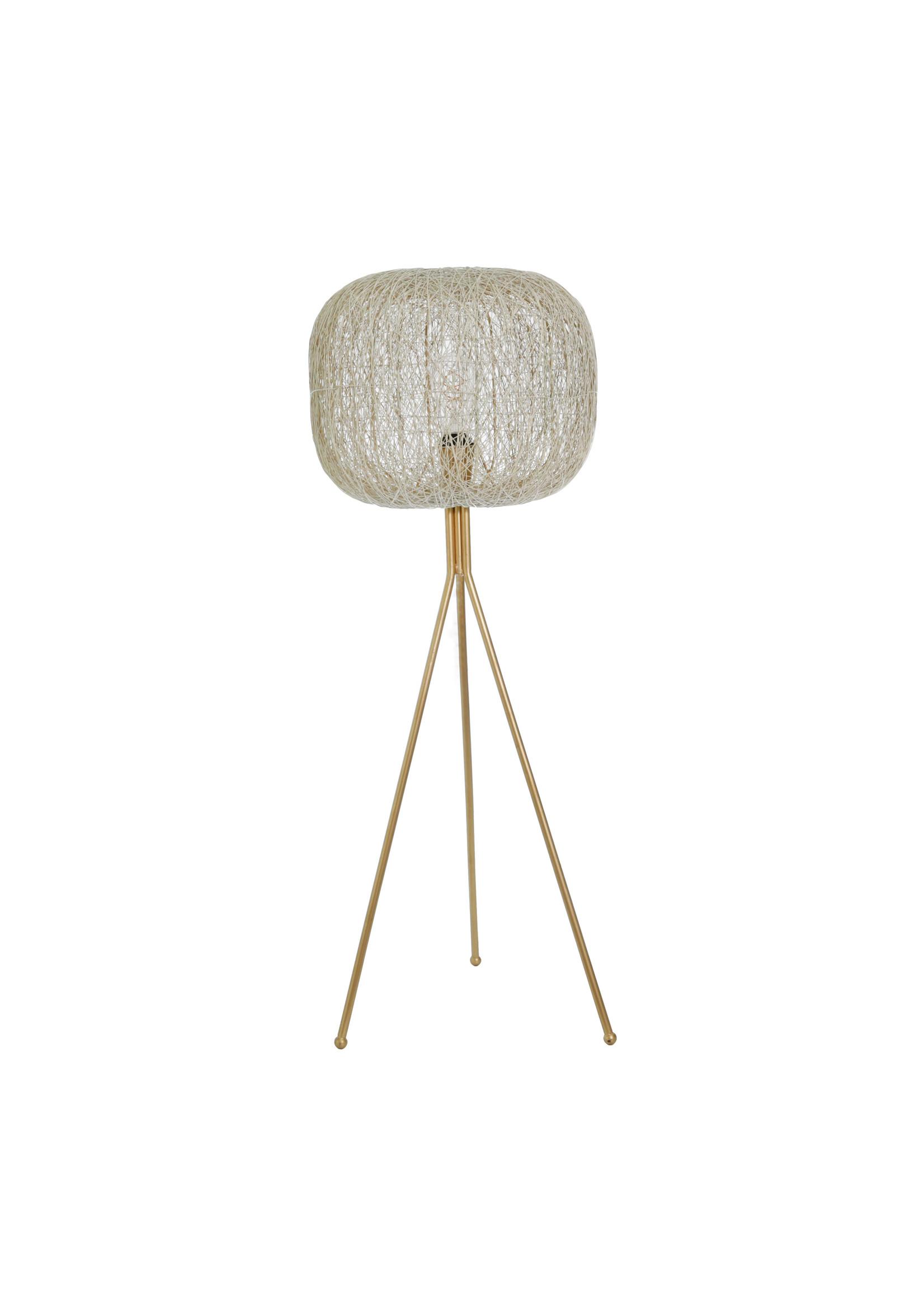 """Sagebrook Home SBH Metal 44"""" Sphere Bird's Nest Lamp Gold"""