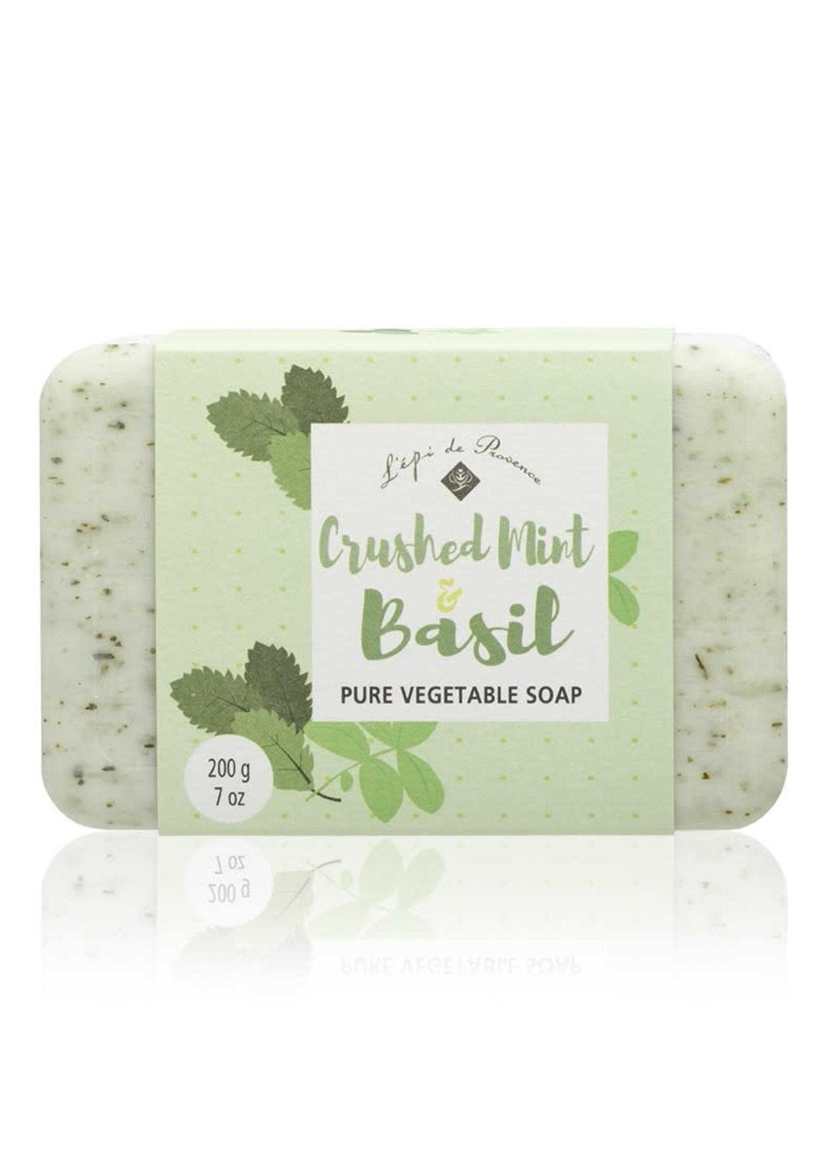 Echo France Soap Crushed Mint & Basil 200g Soap