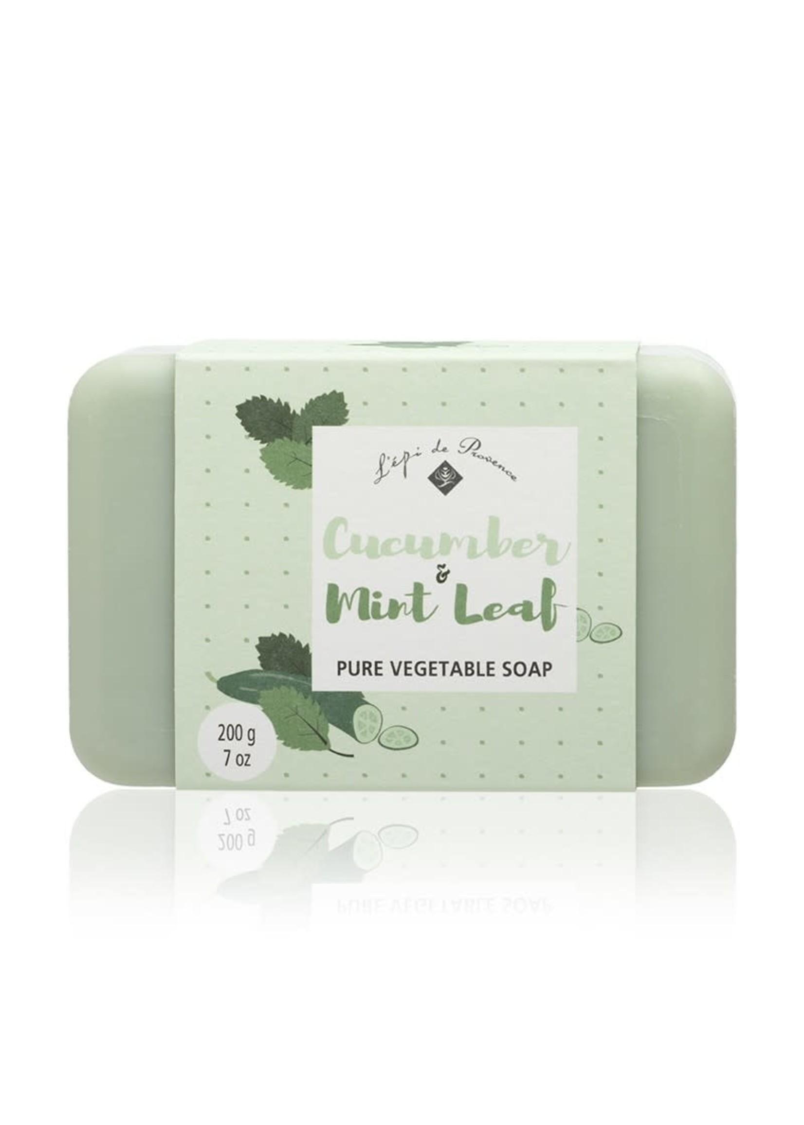 Echo France Soap Cucumber & Mint Leaf 200g Soap