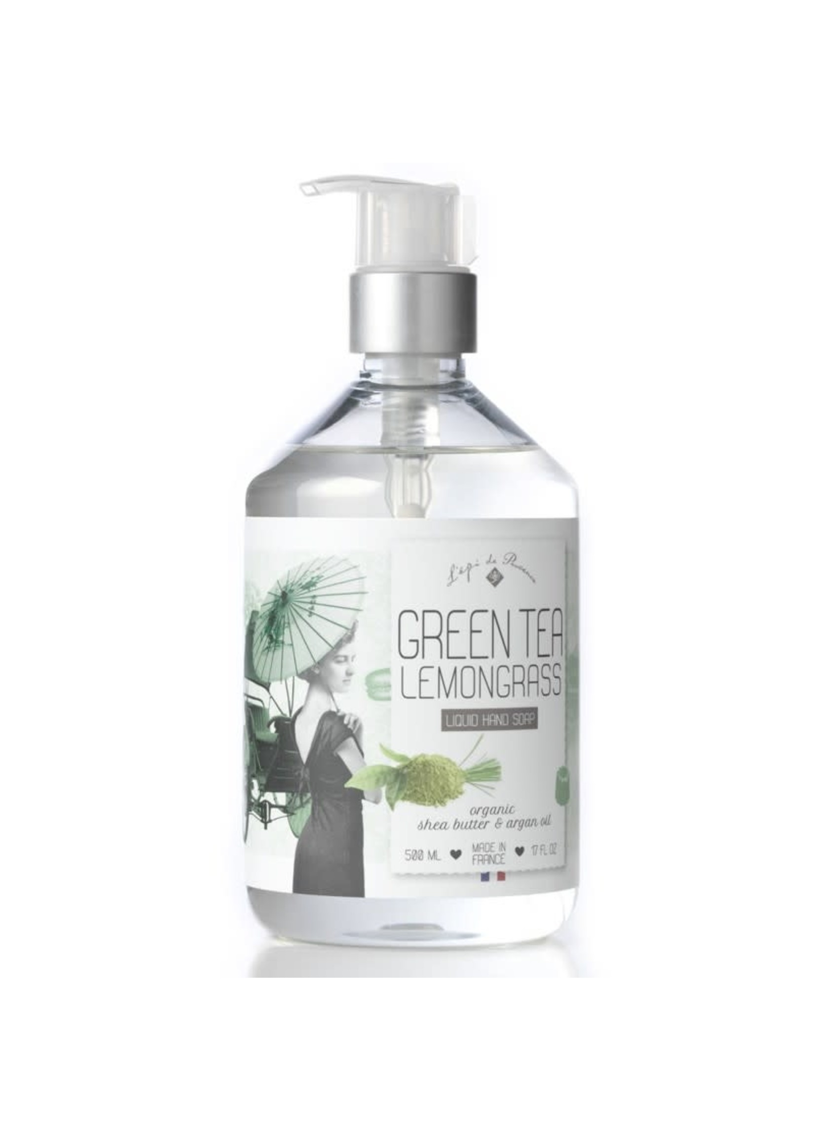 Echo France Soap Green Tea Lemongrass 500ml Liquid Hand Soap