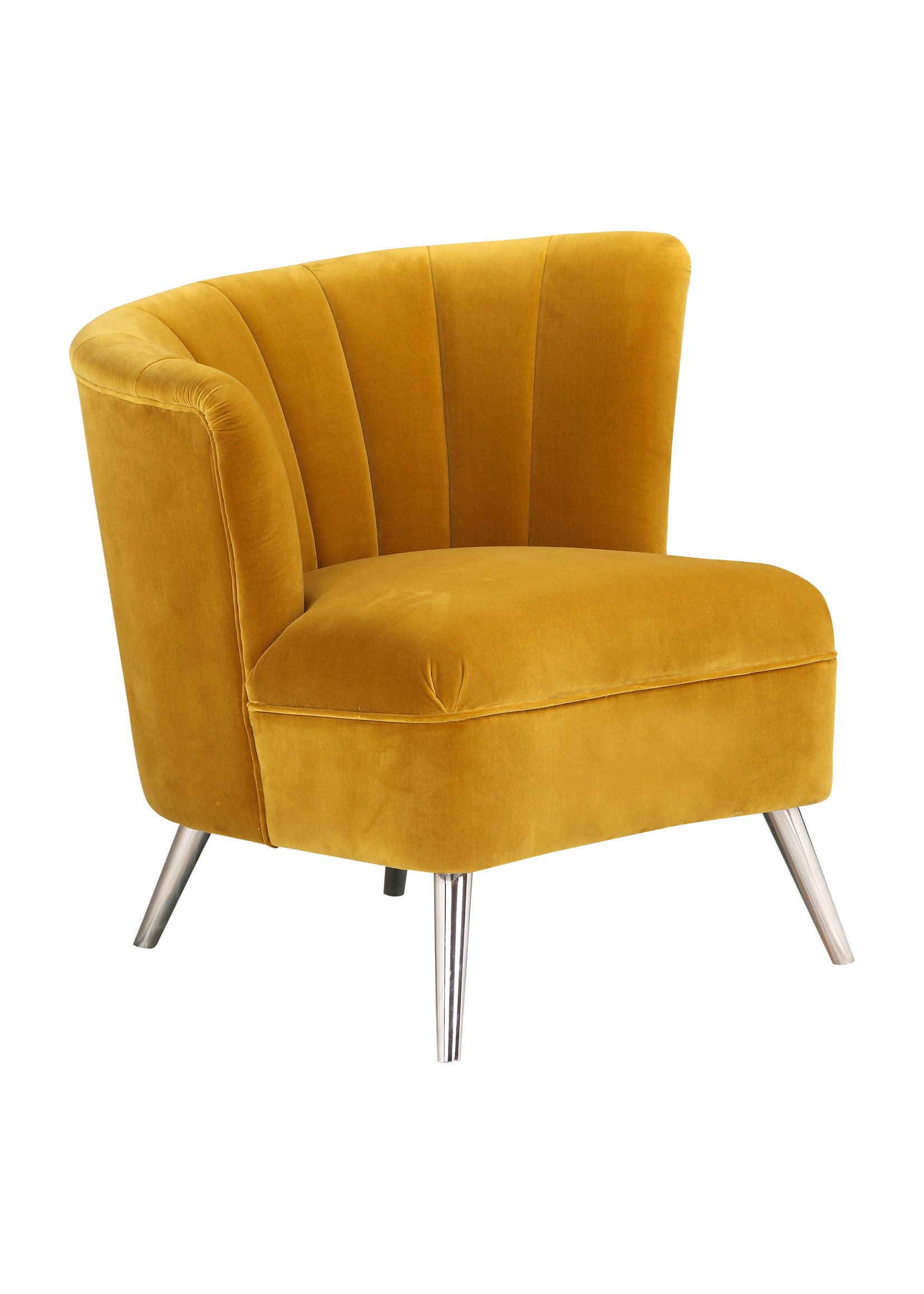 Moes Home Collection Layan Accent Chair Left Yellow by MOES