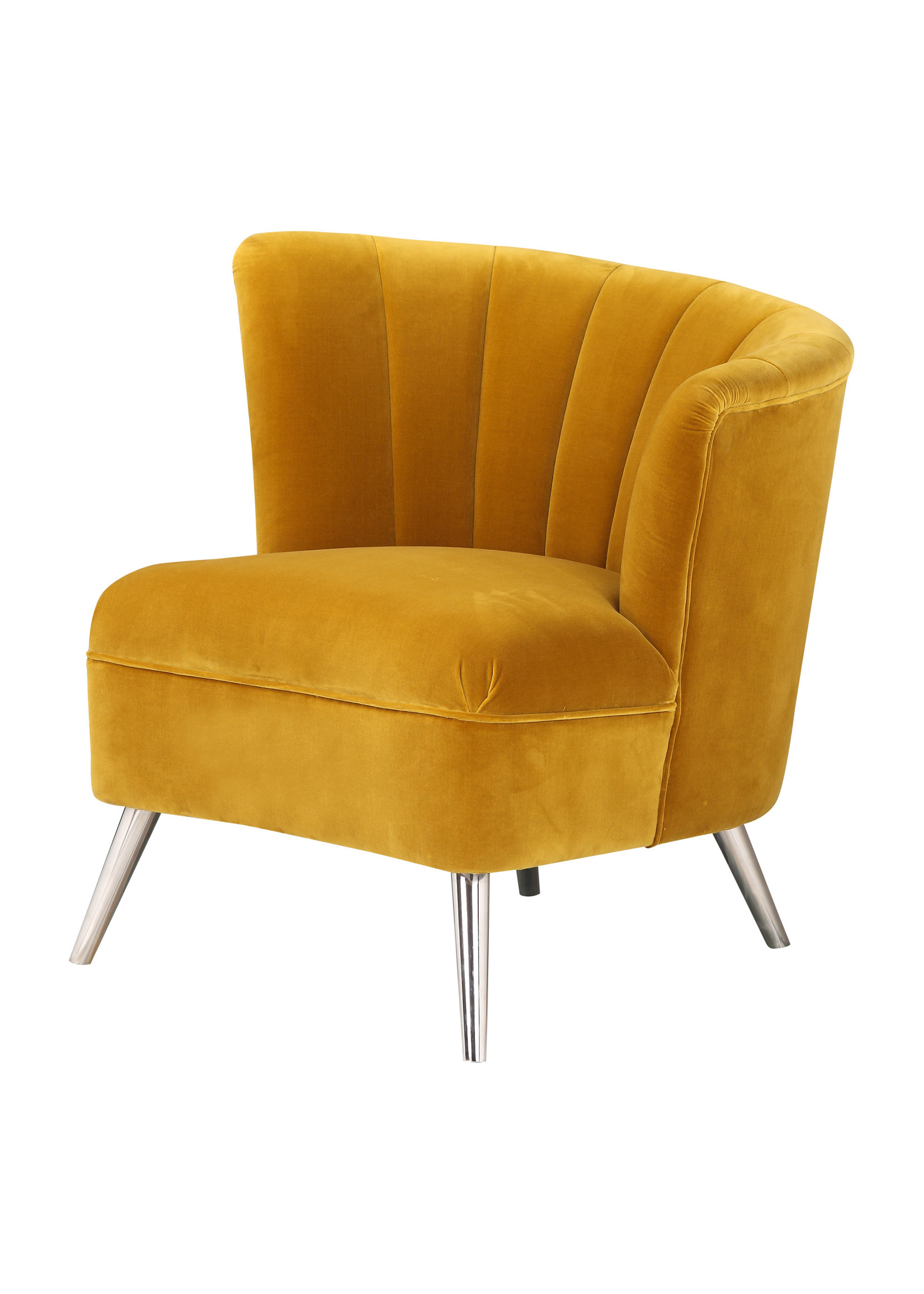 Moes Home Collection Layan Accent Chair Right Yellow by MOES