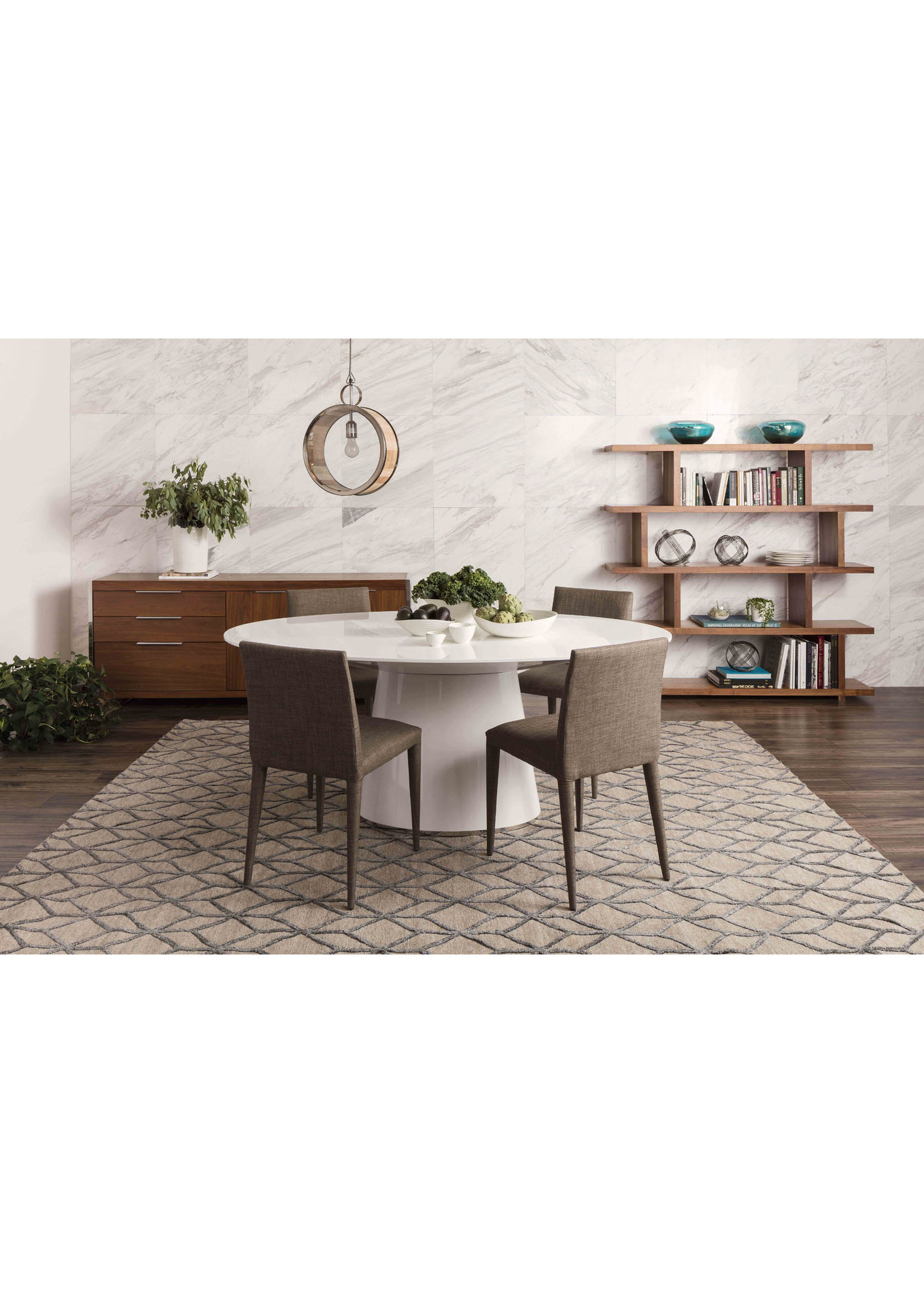 Moes Home Collection Otago Dinning Table White by MOES