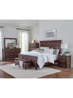 Coaster Furniture COASTER King 4pc Bedroom Set (K Bed NS DR MR)