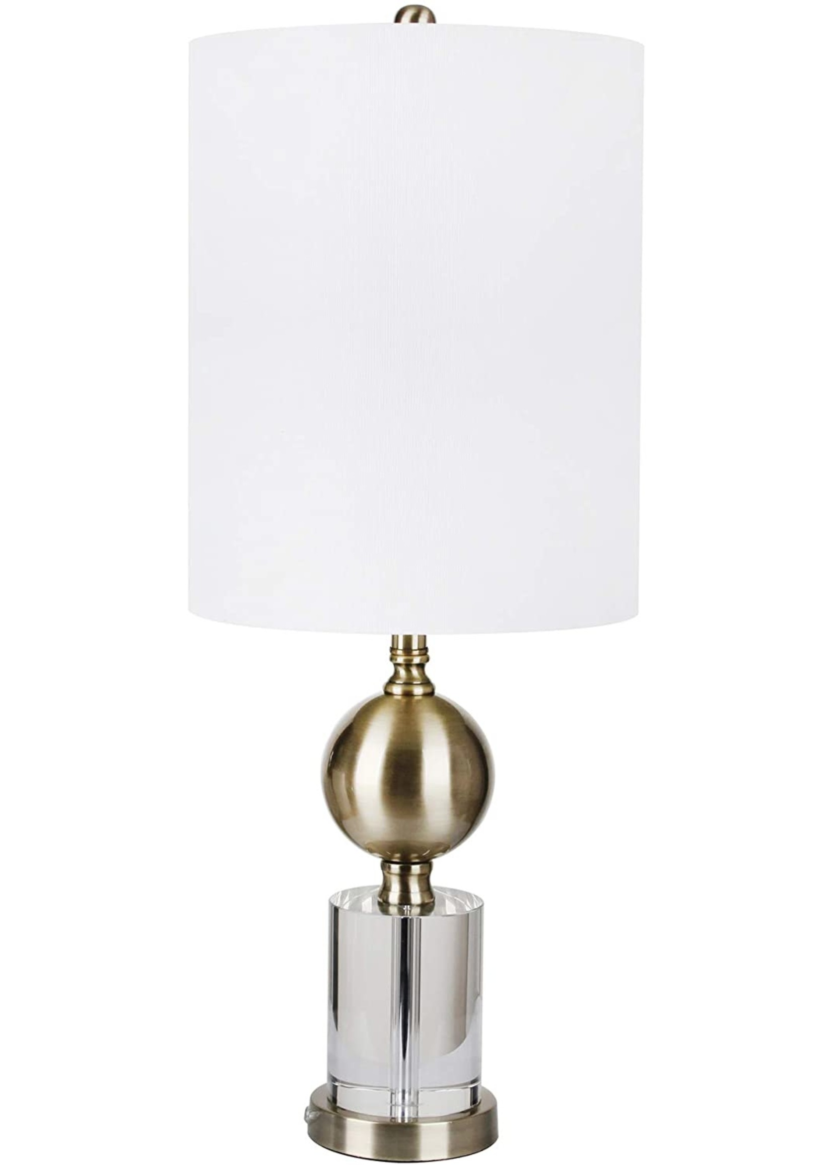 """Sagebrook Home Crystal Metal Table Lamp Clear Gold 30"""""""