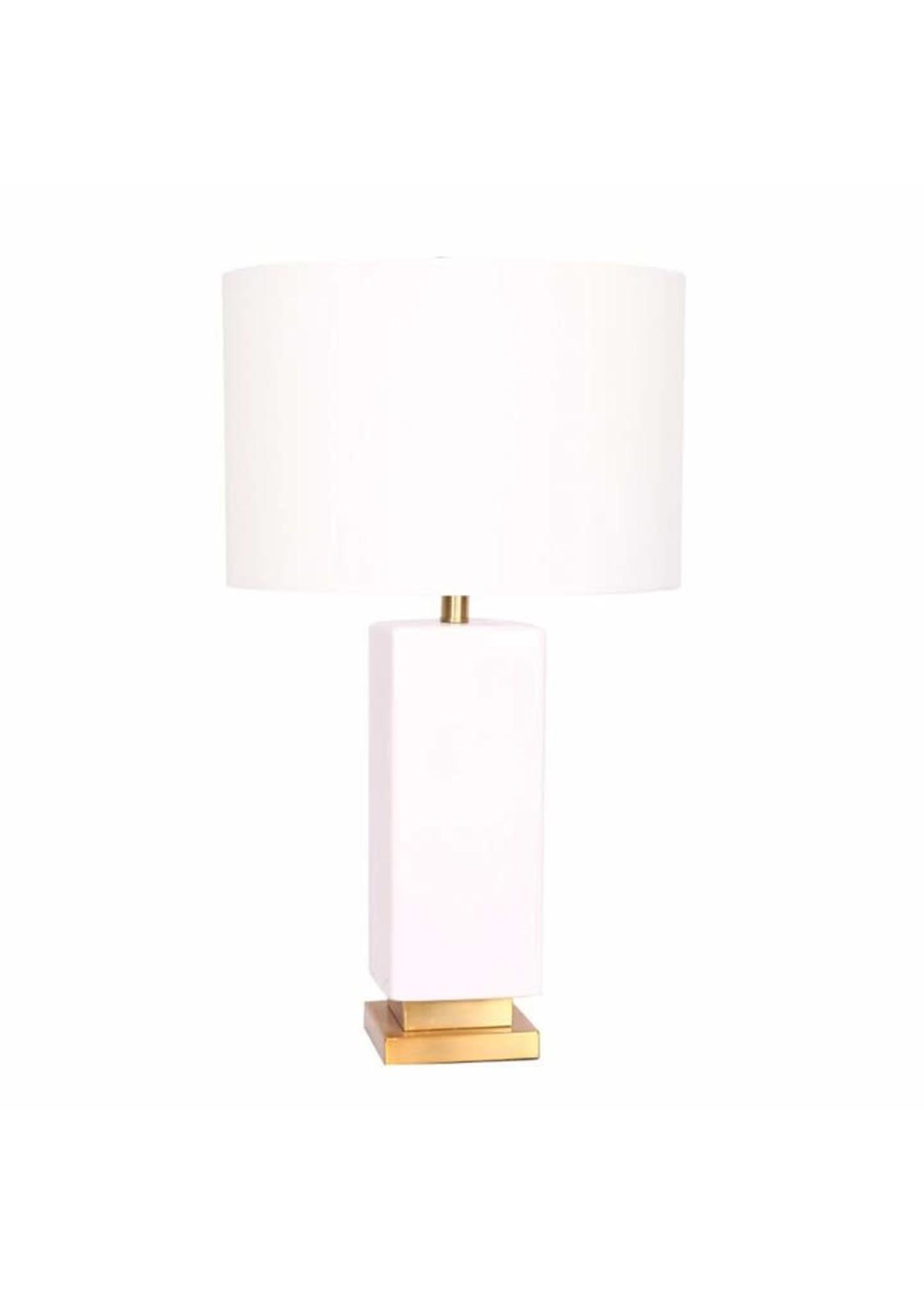 "Sagebrook Home SBH 27"" Ceramic Table Lamp White Gold"