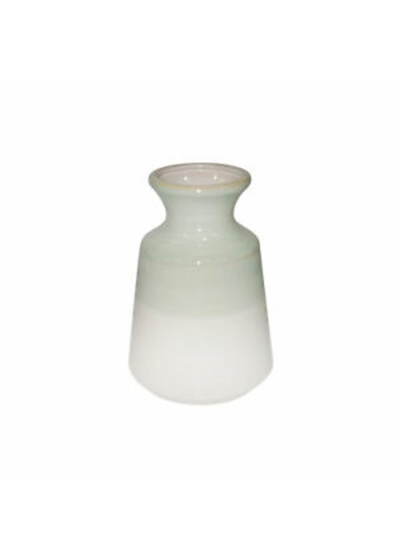 "Sagebrook Home Pale Green White Vase 8.75"""