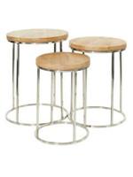 UMA Enterprises UMA SS Wood Round Accent Table SMALL