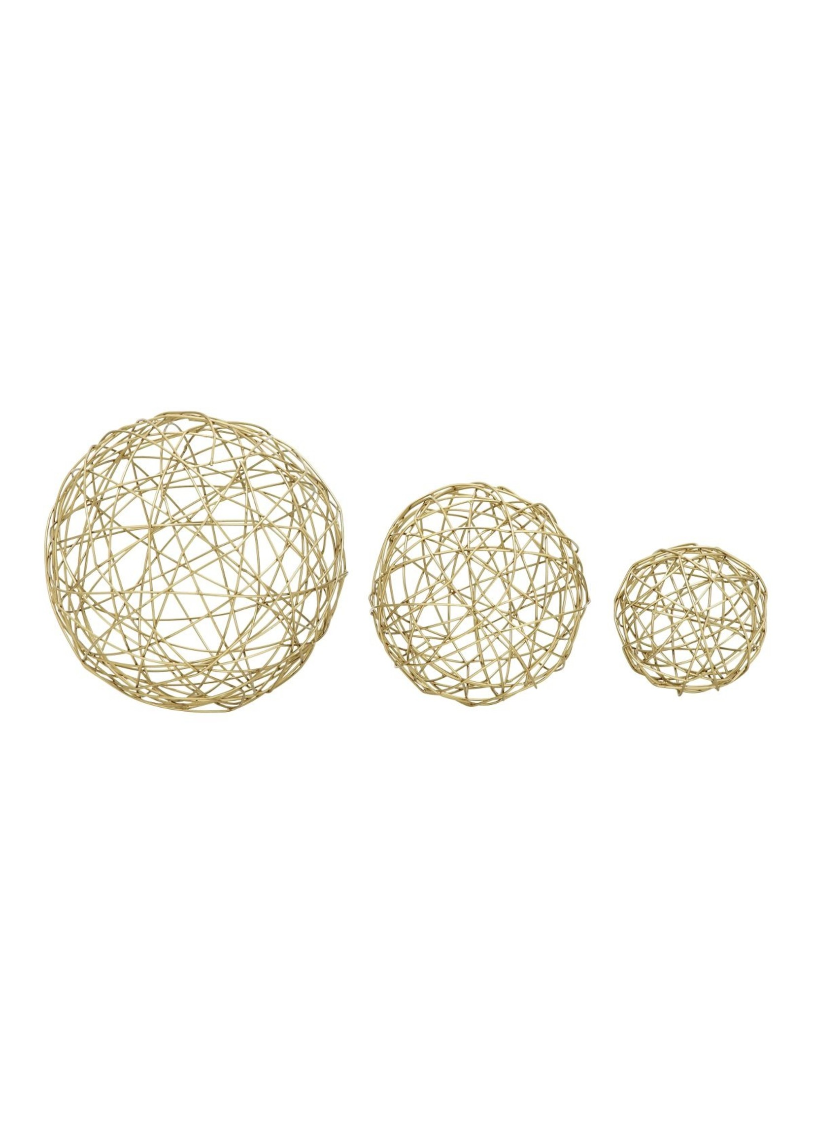 "UMA Enterprises Metal Gold sphere  s/3  4"" 6"" 8"""