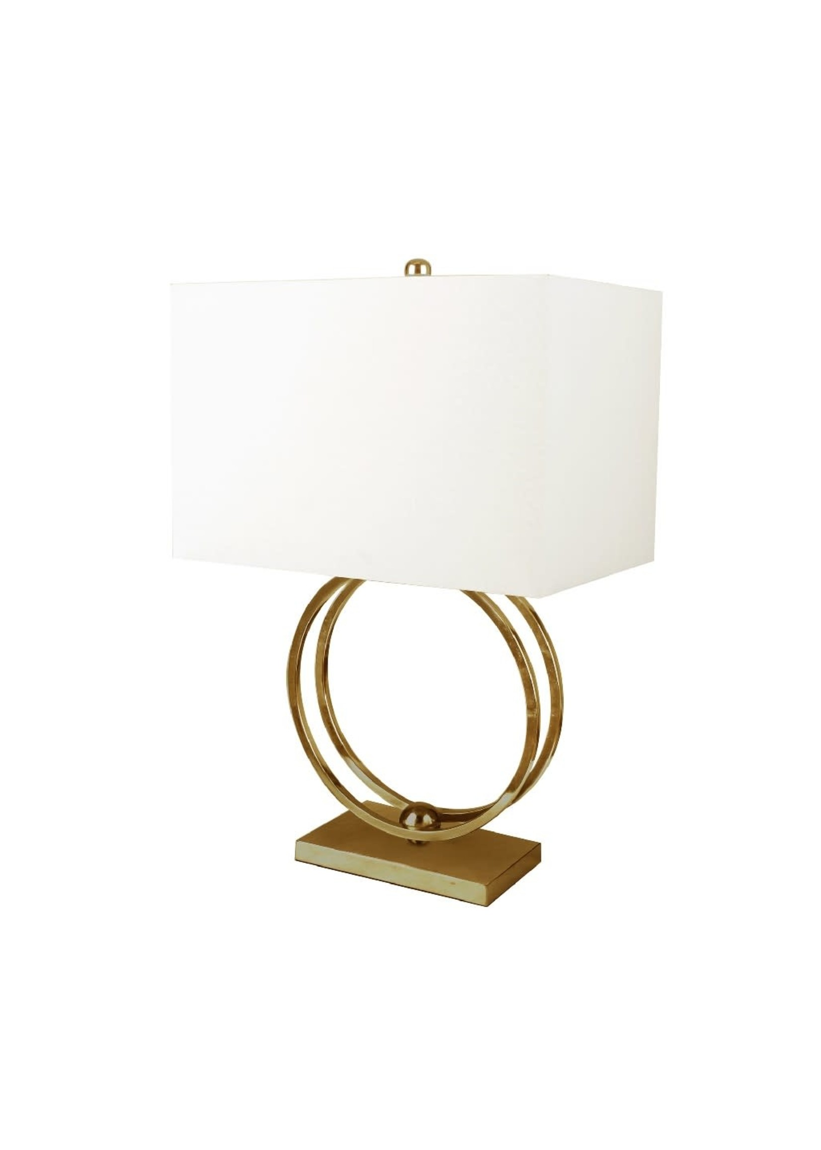"""Sagebrook Home 50472-02 SBH 28"""" Metal Double Ring Table Lamp Gold"""