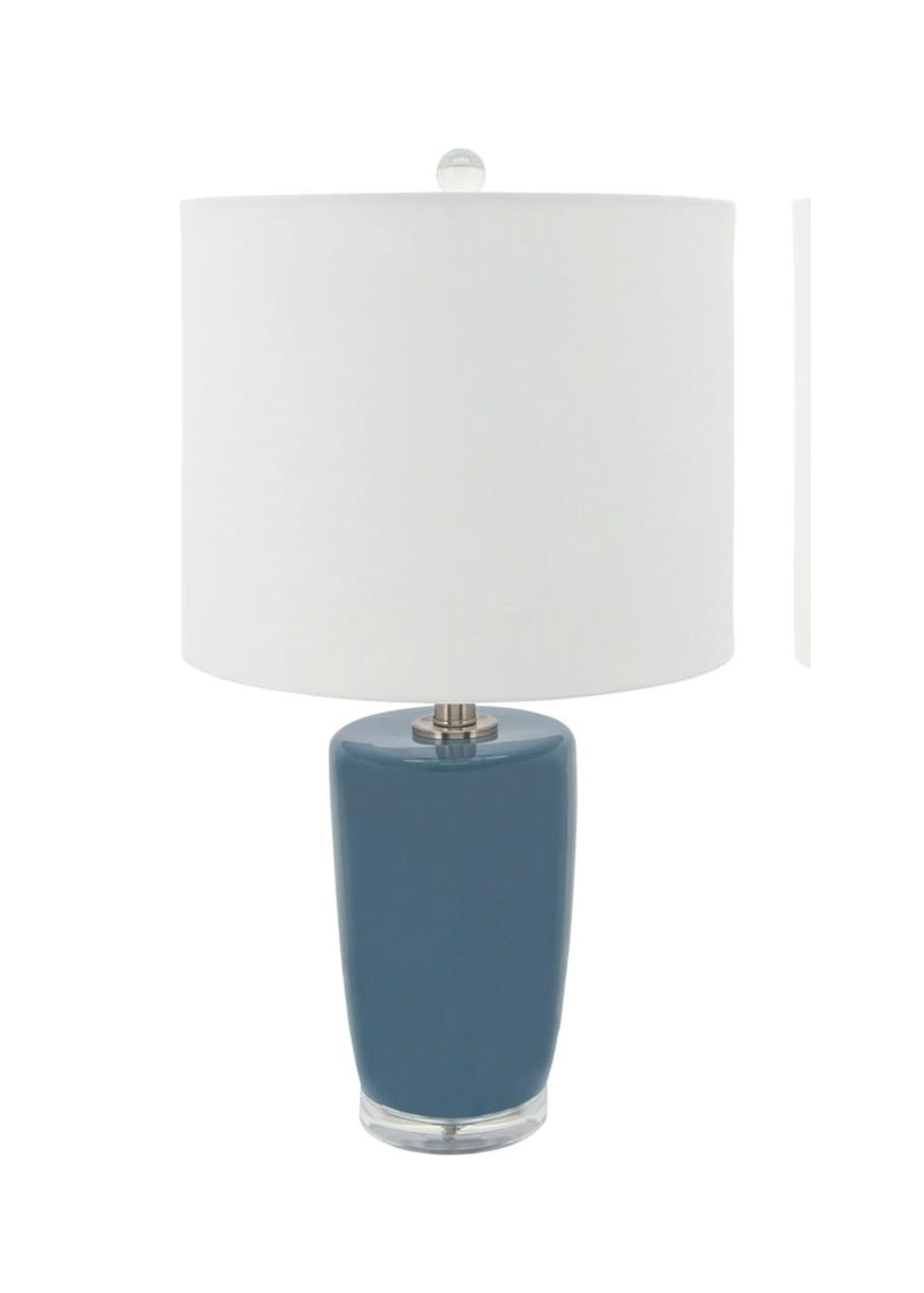 Sagebrook Home Ceramic Table Lamp Blue