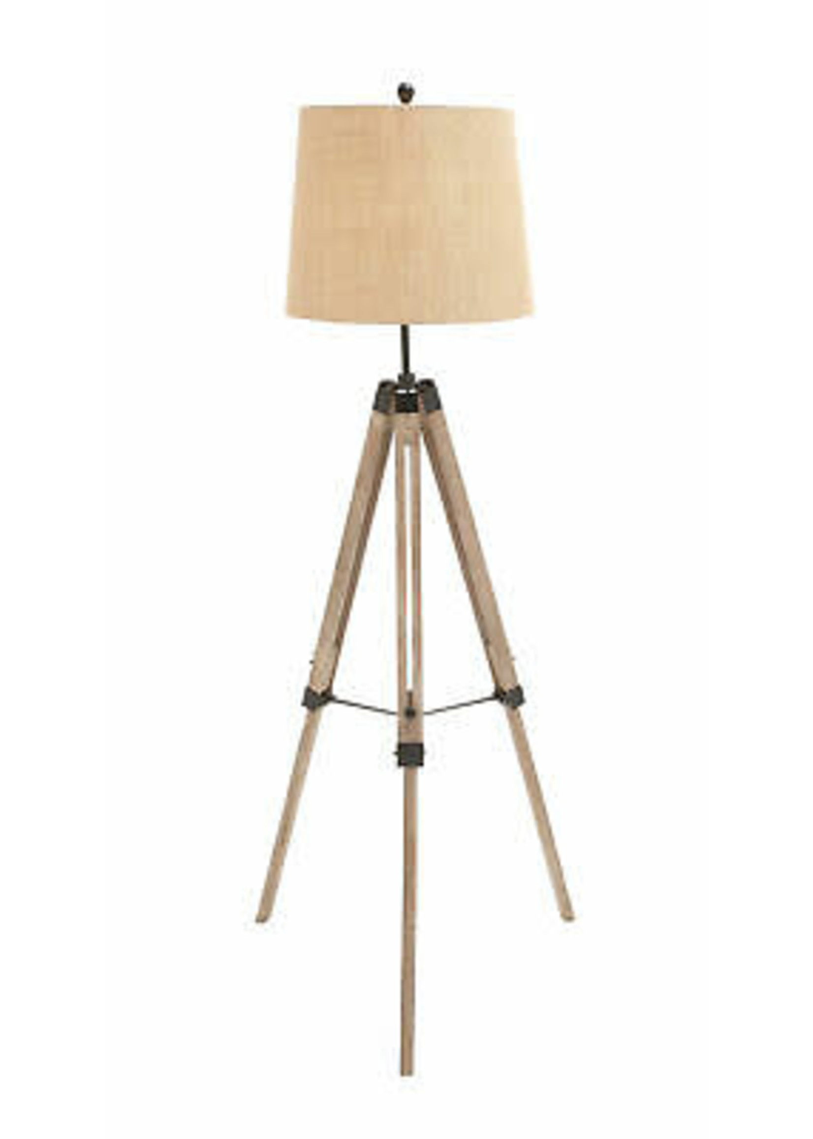 """UMA Enterprises Floor Wd Mtl Tripod Lamp 63""""h"""