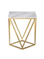 TOV Leopold White Marble Cocktail Table