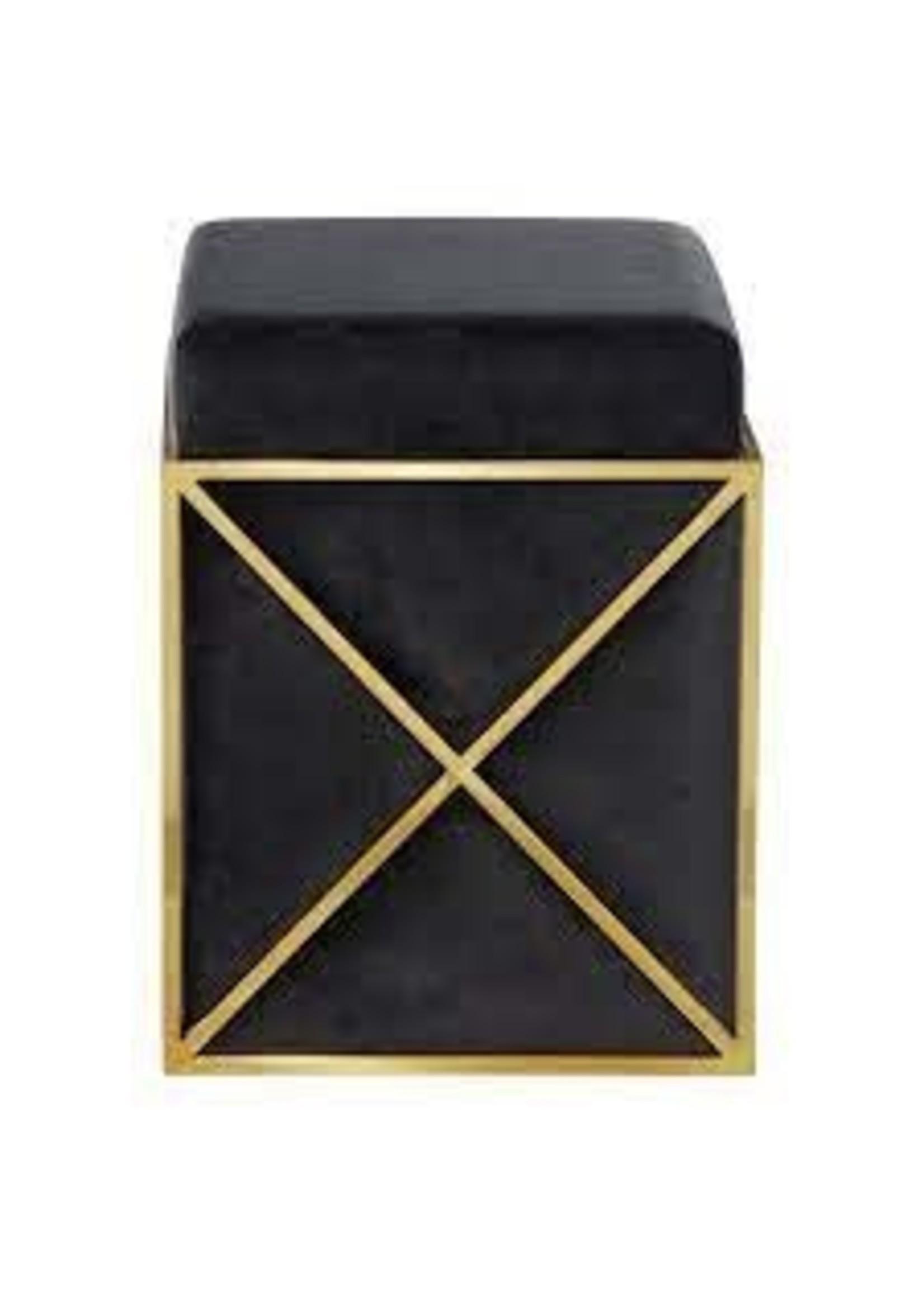 UMA Enterprises 59684 UMA Brass Storage Stool w/Black Velvet