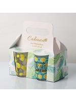 "Home Essentials Cabana ""Lemon"" S/4 7oz Juice Glasses"