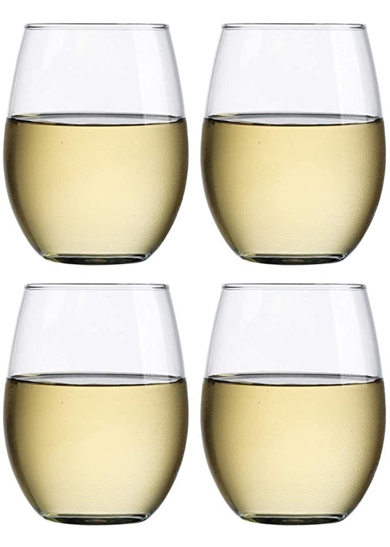 Stemless Wine Glasses 15oz - Set of 4