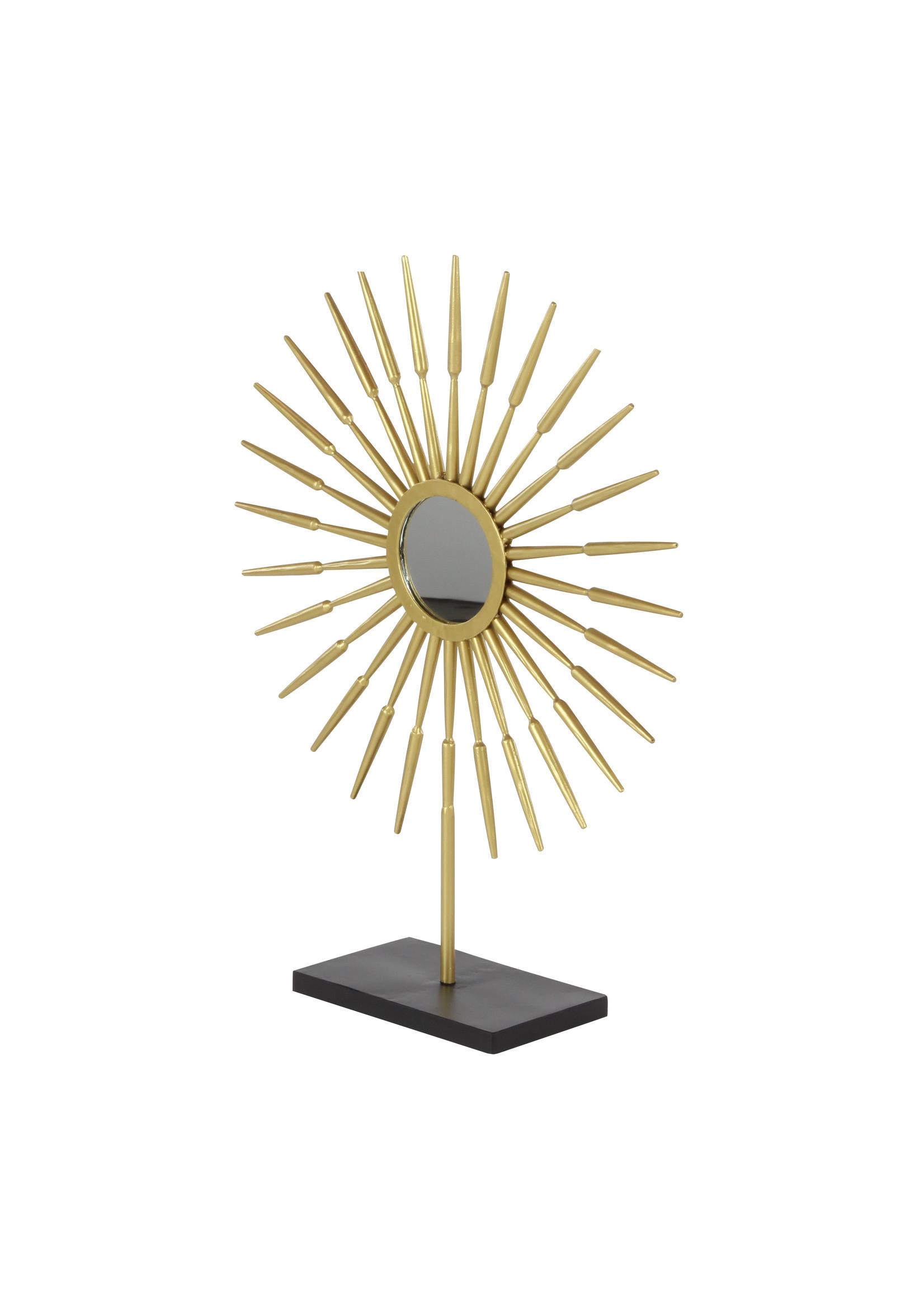 "Metal Goldtop Sunburst with Mirror 21"""