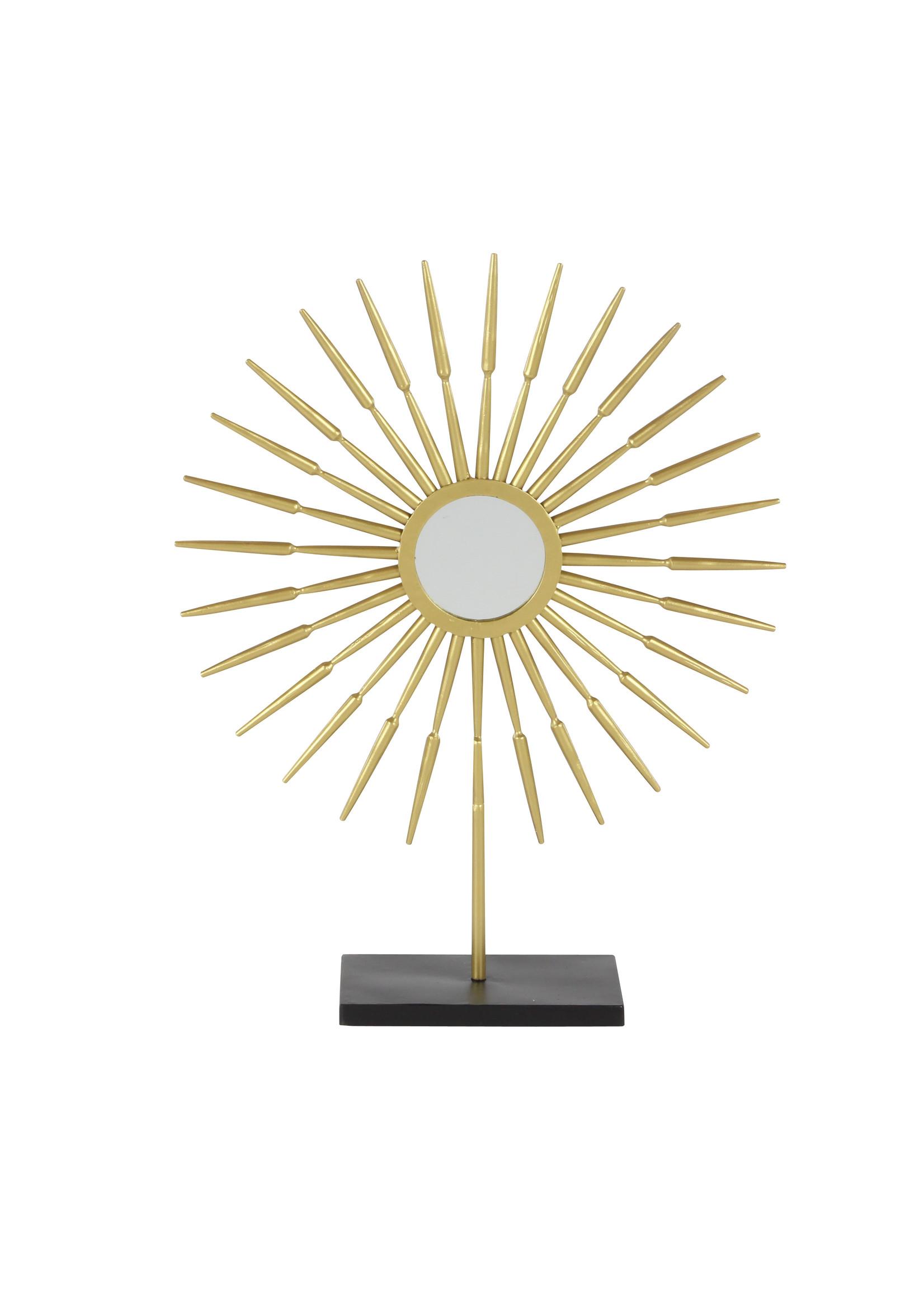 "UMA Enterprises Metal Goldtop Sunburst with Mirror 21"""