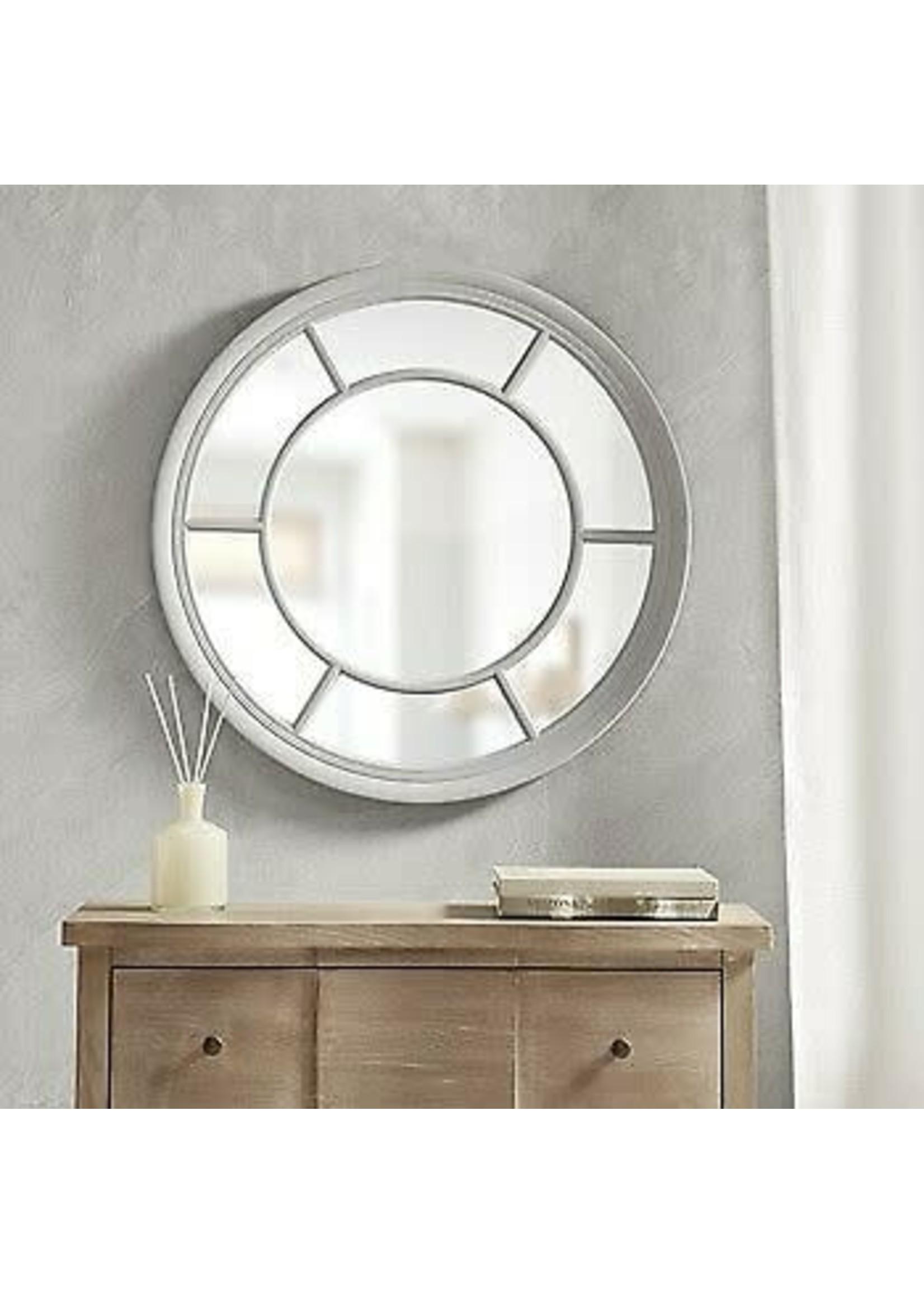 Olliix OLLIIX Terellis Round Accent Mirror Grey