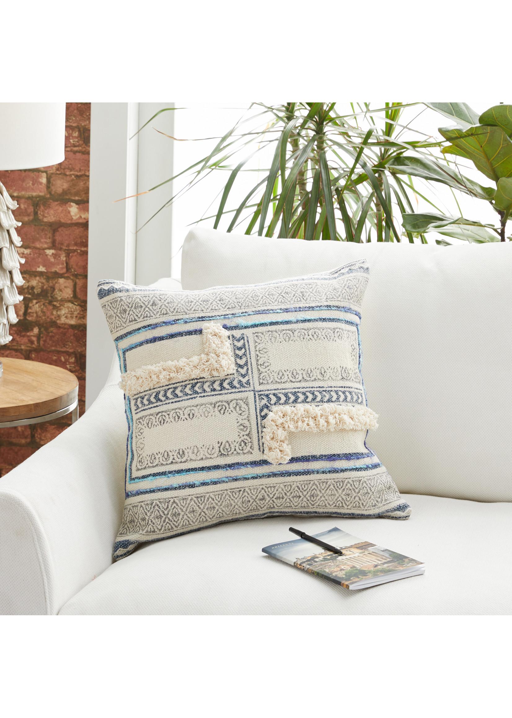 UMA Enterprises Cotton Fringe Pillow
