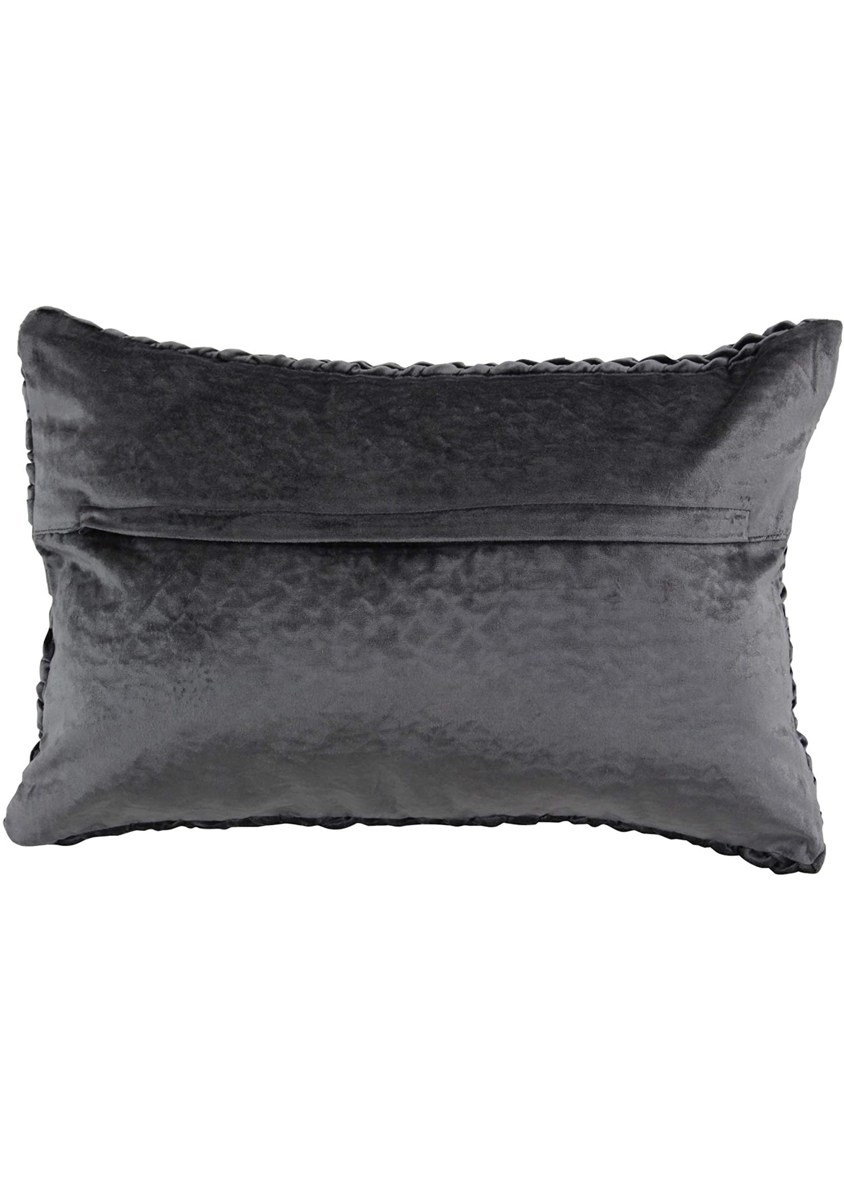 UMA Enterprises Cotton Velvet Black Lumbar Pillow