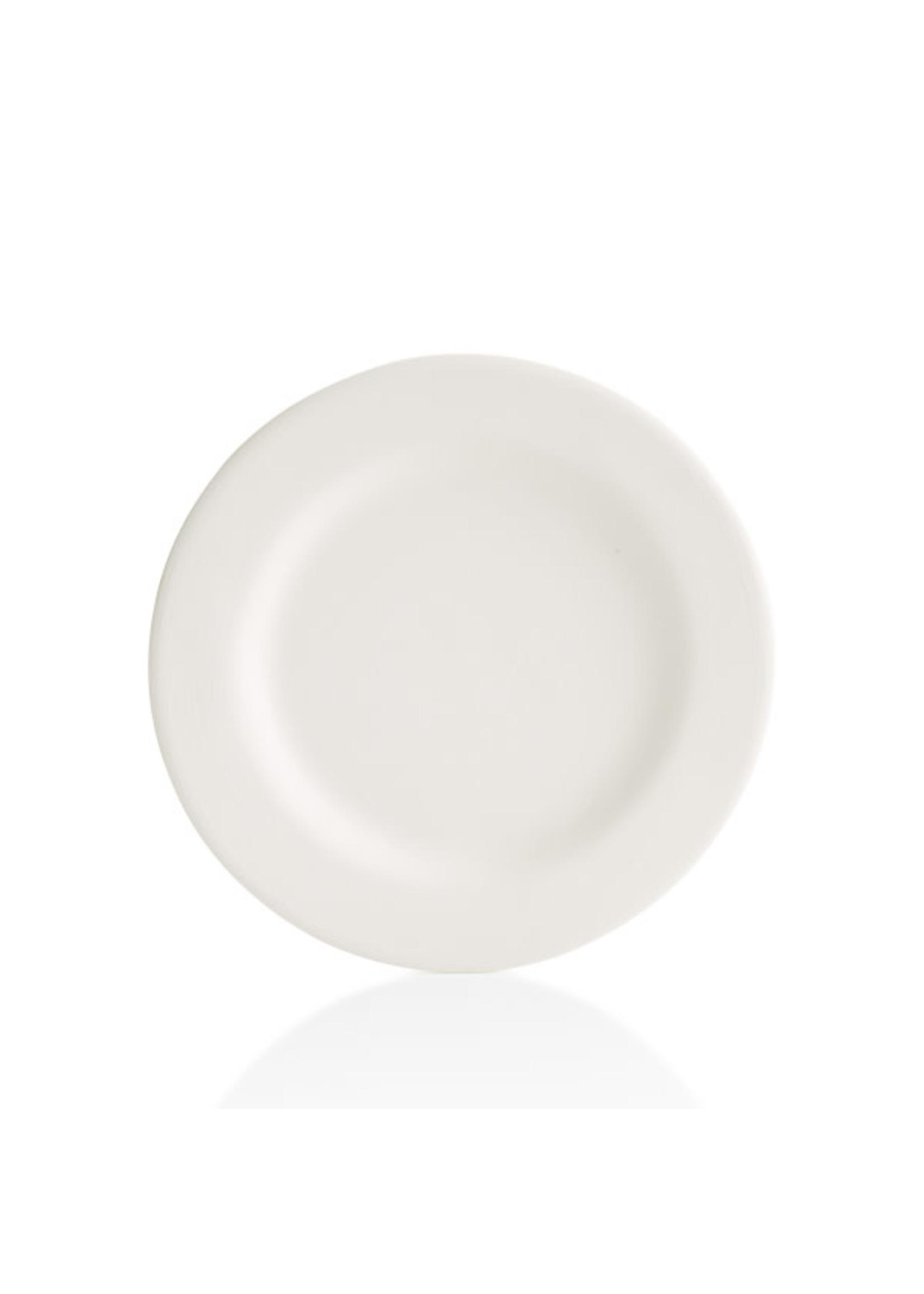 "Home Essentials White Bone Rim Salad Plate 8"""