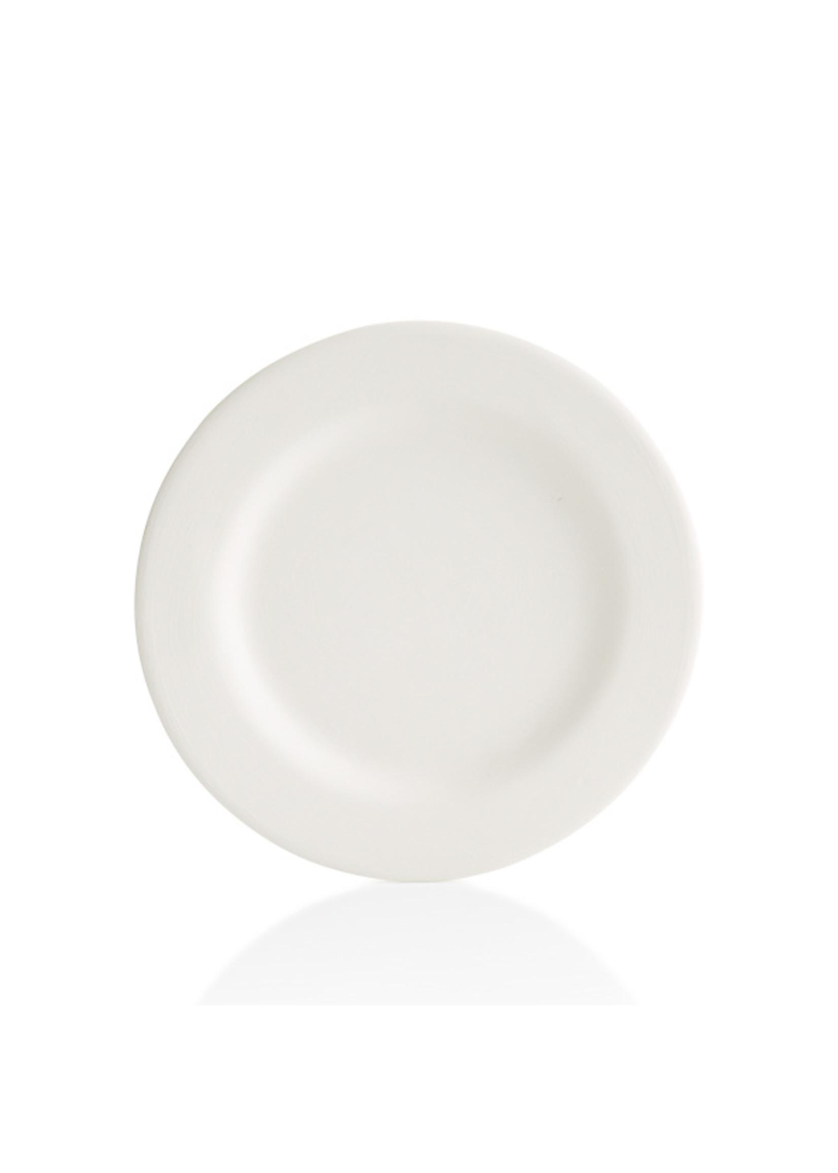 "Home Essentials White Bone Rim Dinnr Plate 10.5"""